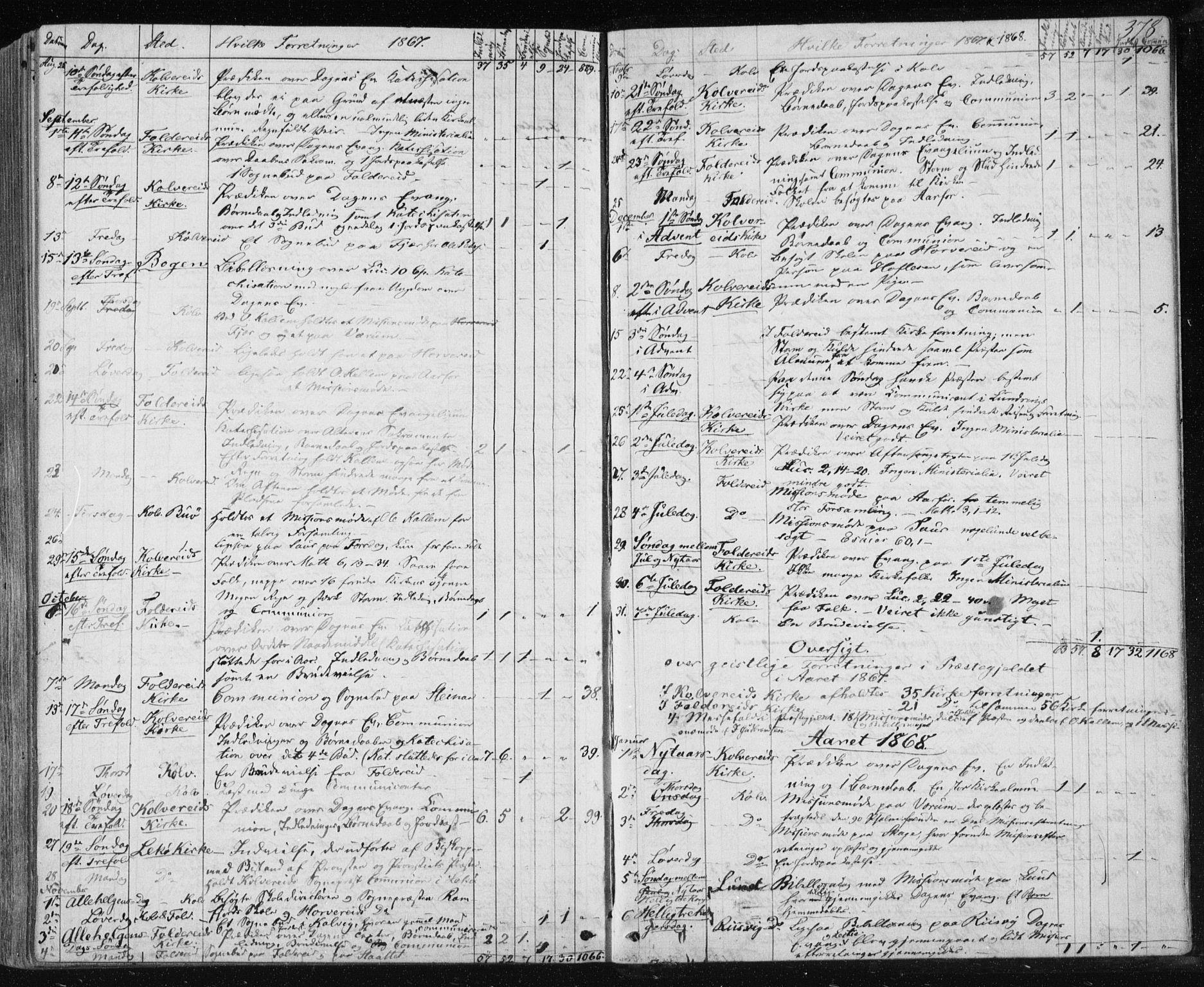 SAT, Ministerialprotokoller, klokkerbøker og fødselsregistre - Nord-Trøndelag, 780/L0641: Ministerialbok nr. 780A06, 1857-1874, s. 378