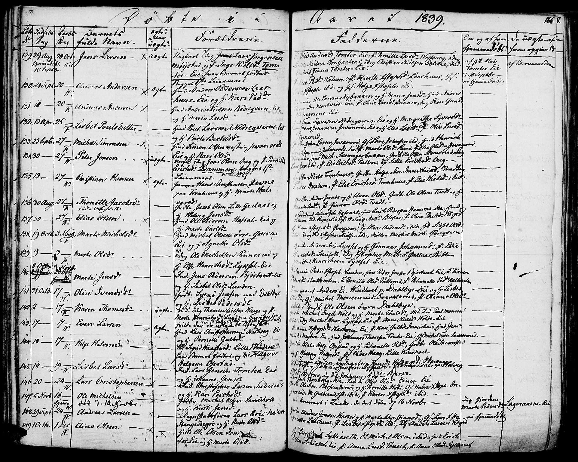 SAH, Vang prestekontor, Hedmark, H/Ha/Haa/L0009: Ministerialbok nr. 9, 1826-1841, s. 166