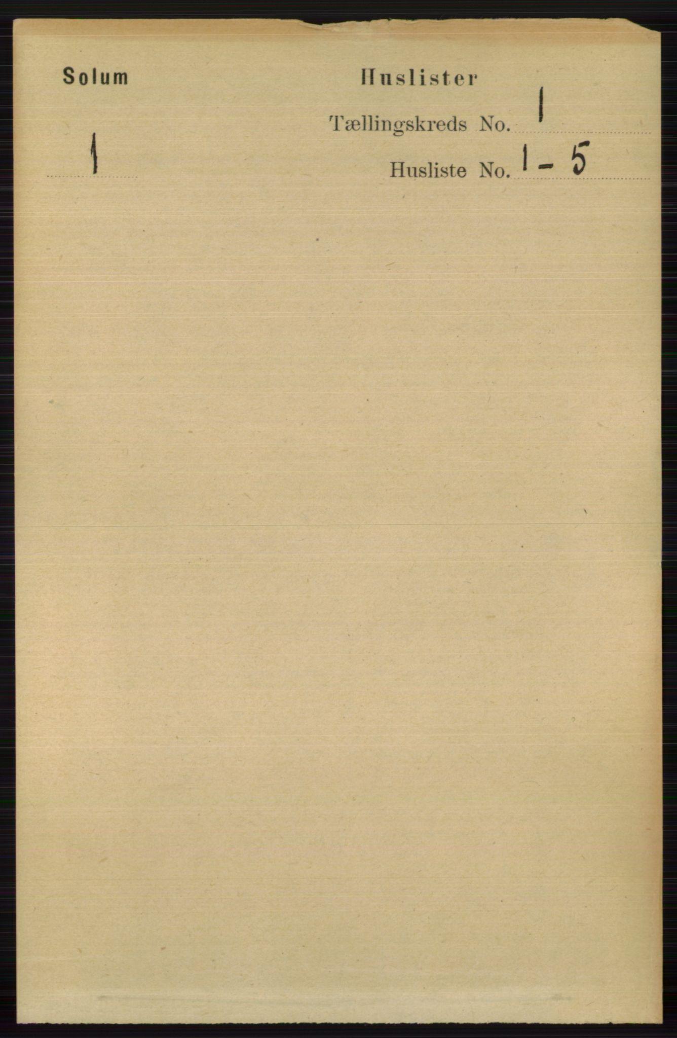 RA, Folketelling 1891 for 0818 Solum herred, 1891, s. 39