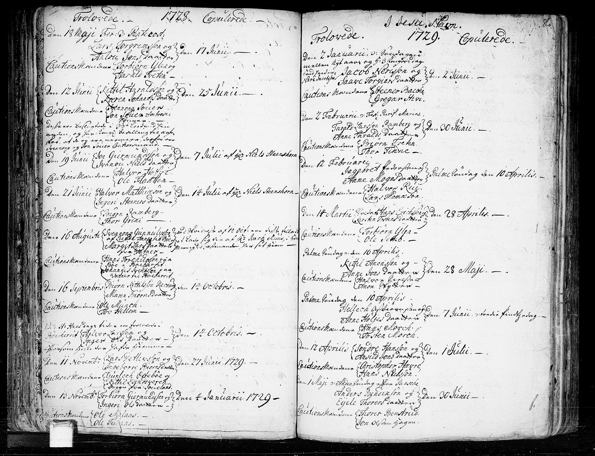SAKO, Heddal kirkebøker, F/Fa/L0003: Ministerialbok nr. I 3, 1723-1783, s. 86