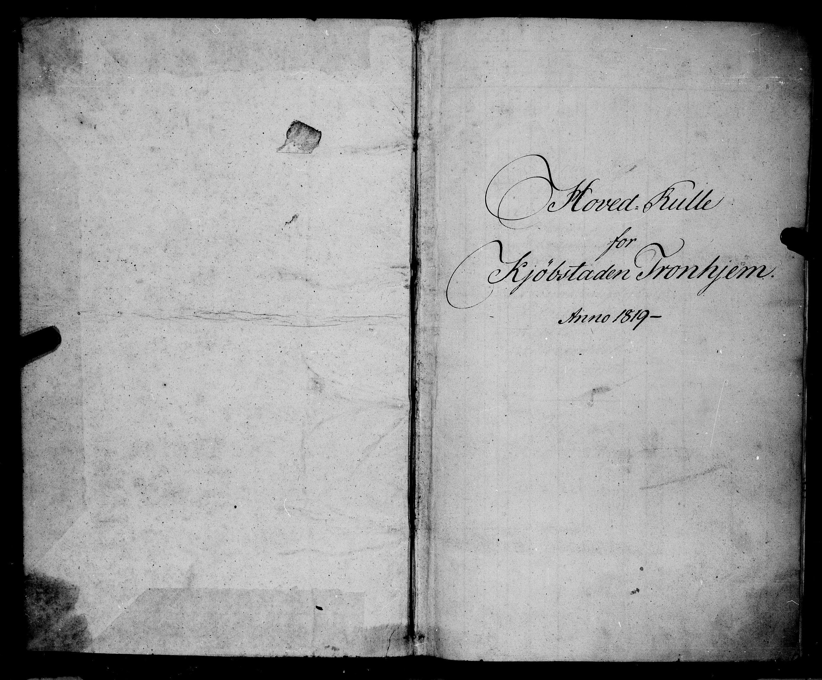 SAT, Sjøinnrulleringen - Trondhjemske distrikt, 01/L0015: Rulle over Trondhjem distrikt, 1819