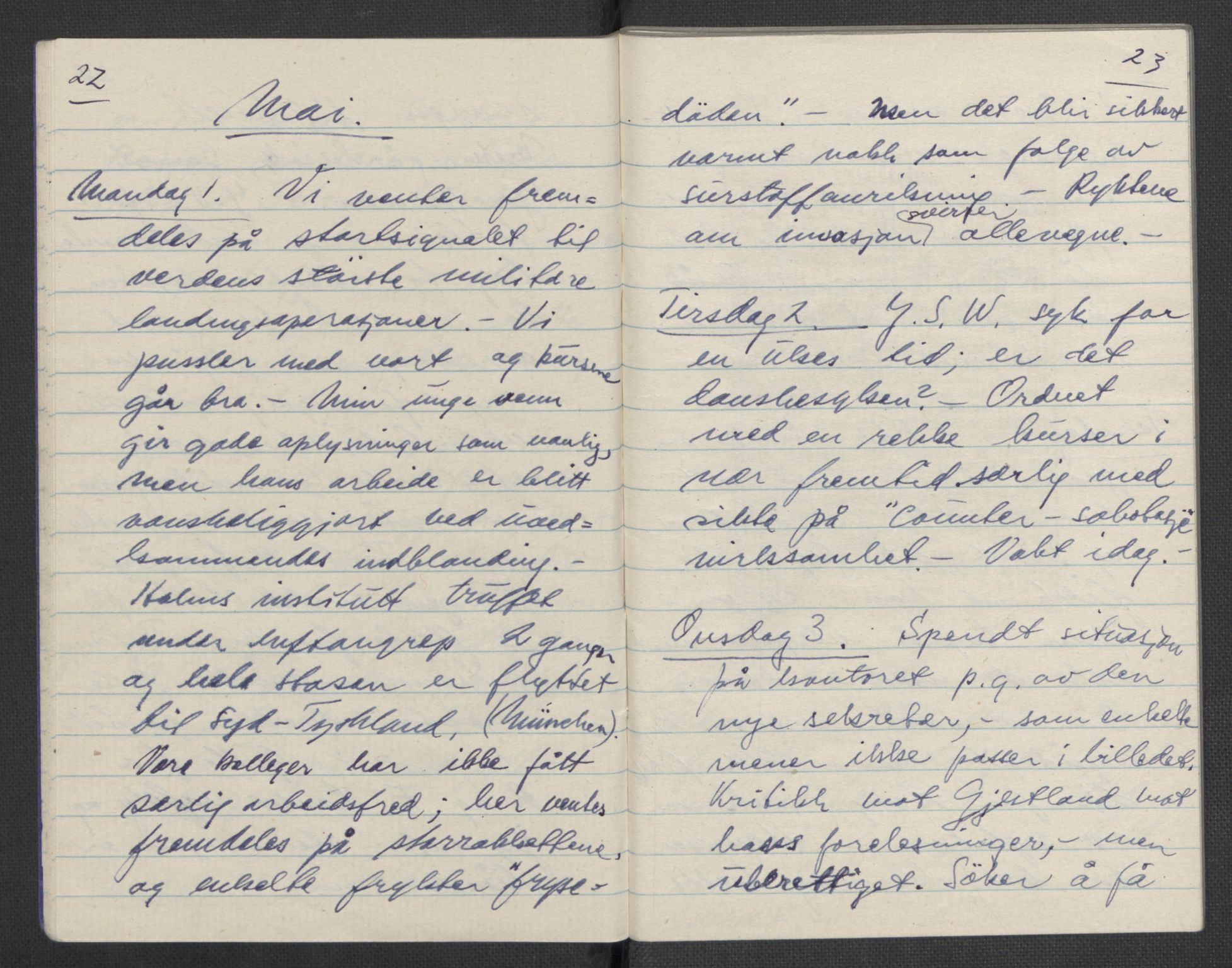 RA, Tronstad, Leif, F/L0001: Dagbøker, 1941-1945, s. 692