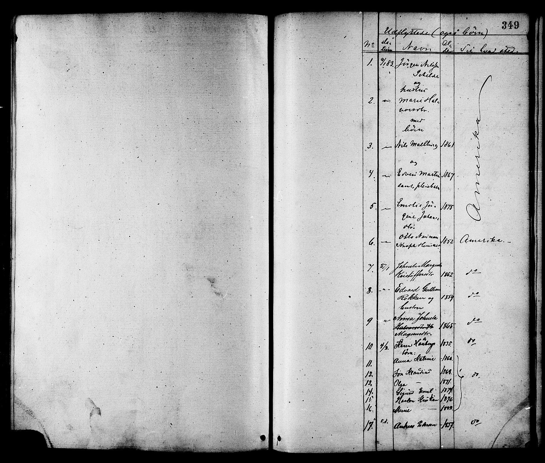 SAT, Ministerialprotokoller, klokkerbøker og fødselsregistre - Nord-Trøndelag, 780/L0642: Ministerialbok nr. 780A07 /1, 1874-1885, s. 349