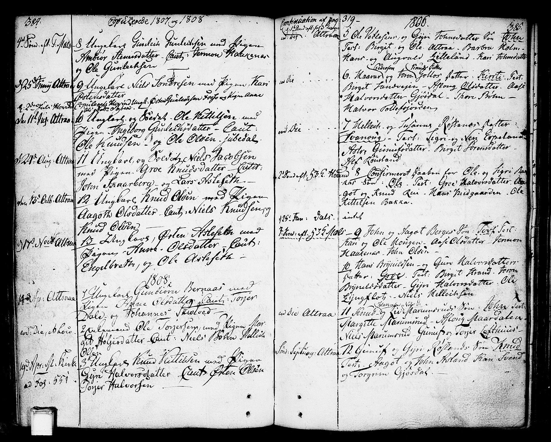 SAKO, Tinn kirkebøker, F/Fa/L0002: Ministerialbok nr. I 2, 1757-1810, s. 384-385