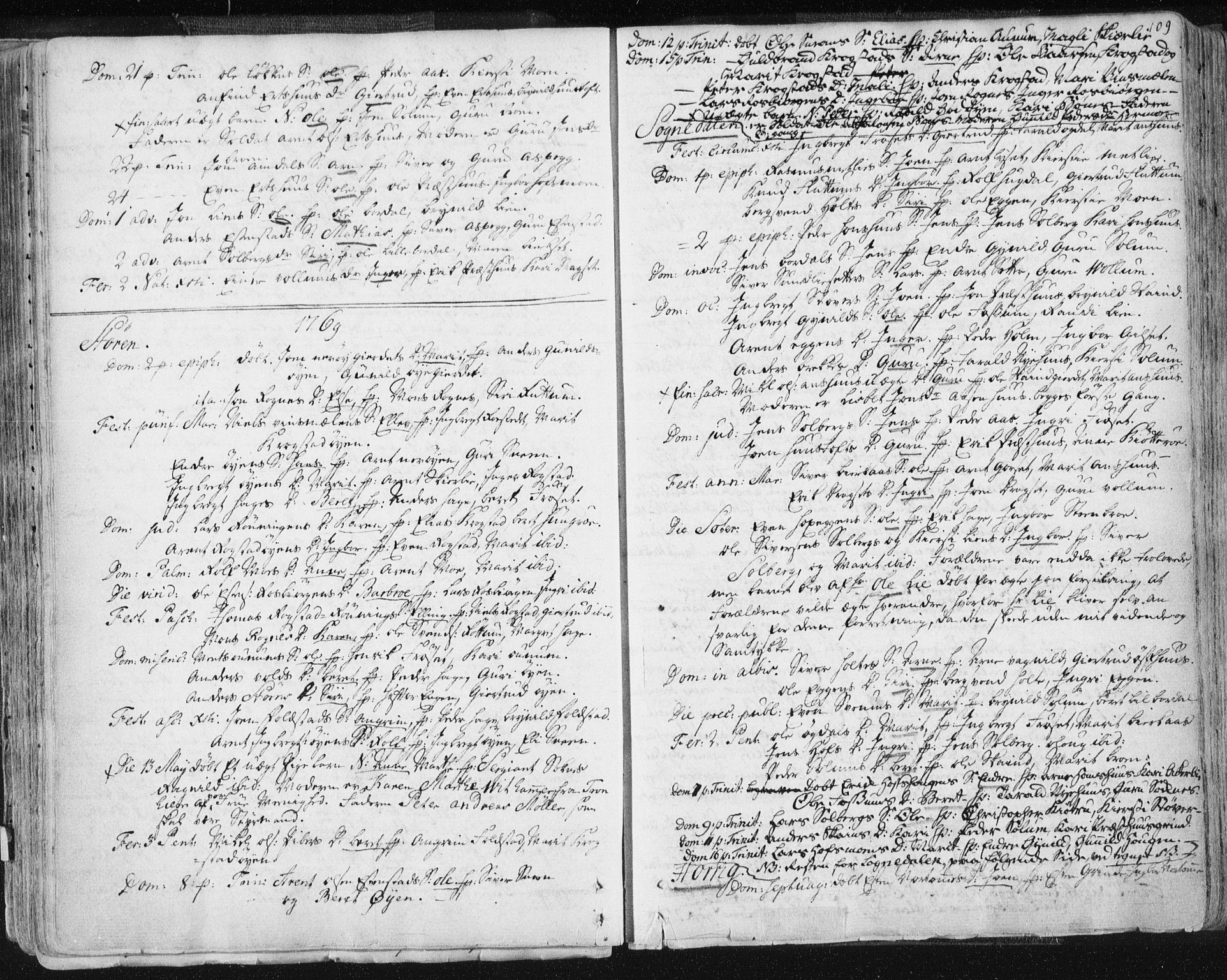 SAT, Ministerialprotokoller, klokkerbøker og fødselsregistre - Sør-Trøndelag, 687/L0991: Ministerialbok nr. 687A02, 1747-1790, s. 109