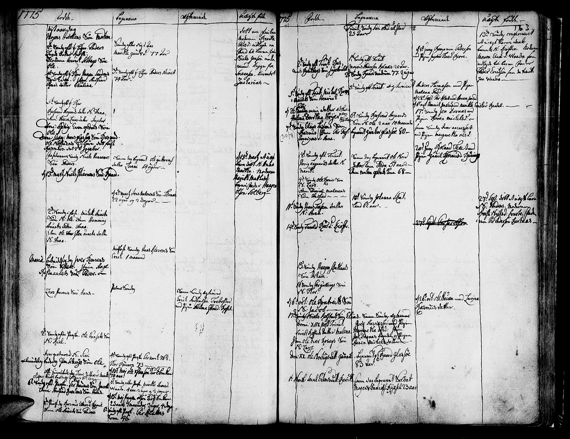 SAT, Ministerialprotokoller, klokkerbøker og fødselsregistre - Nord-Trøndelag, 741/L0385: Ministerialbok nr. 741A01, 1722-1815, s. 163
