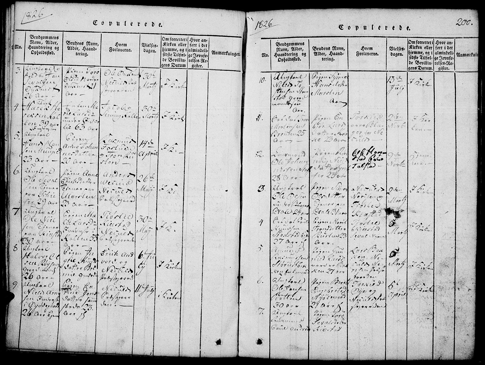 SAH, Lom prestekontor, L/L0001: Klokkerbok nr. 1, 1815-1836, s. 200