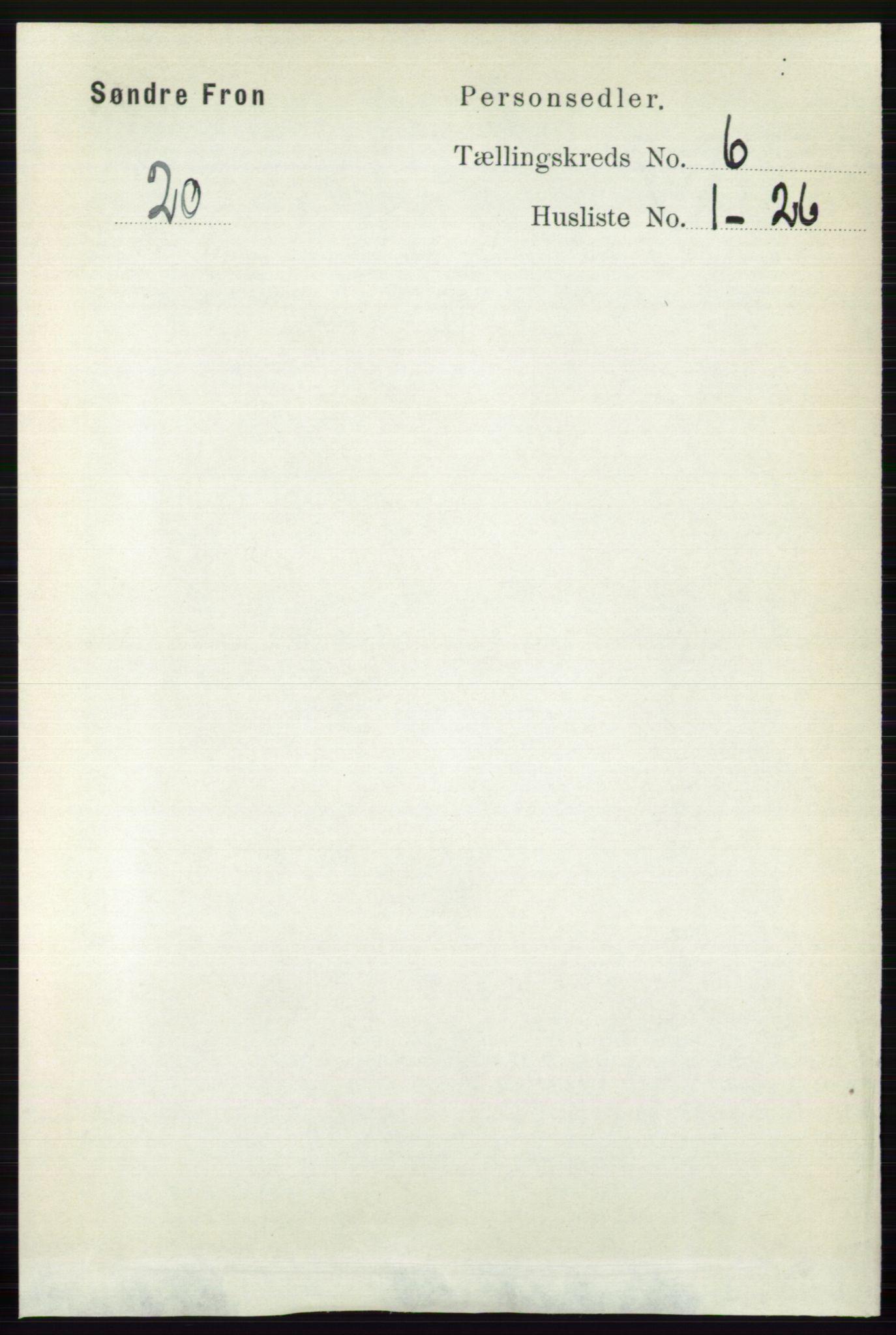 RA, Folketelling 1891 for 0519 Sør-Fron herred, 1891, s. 2577