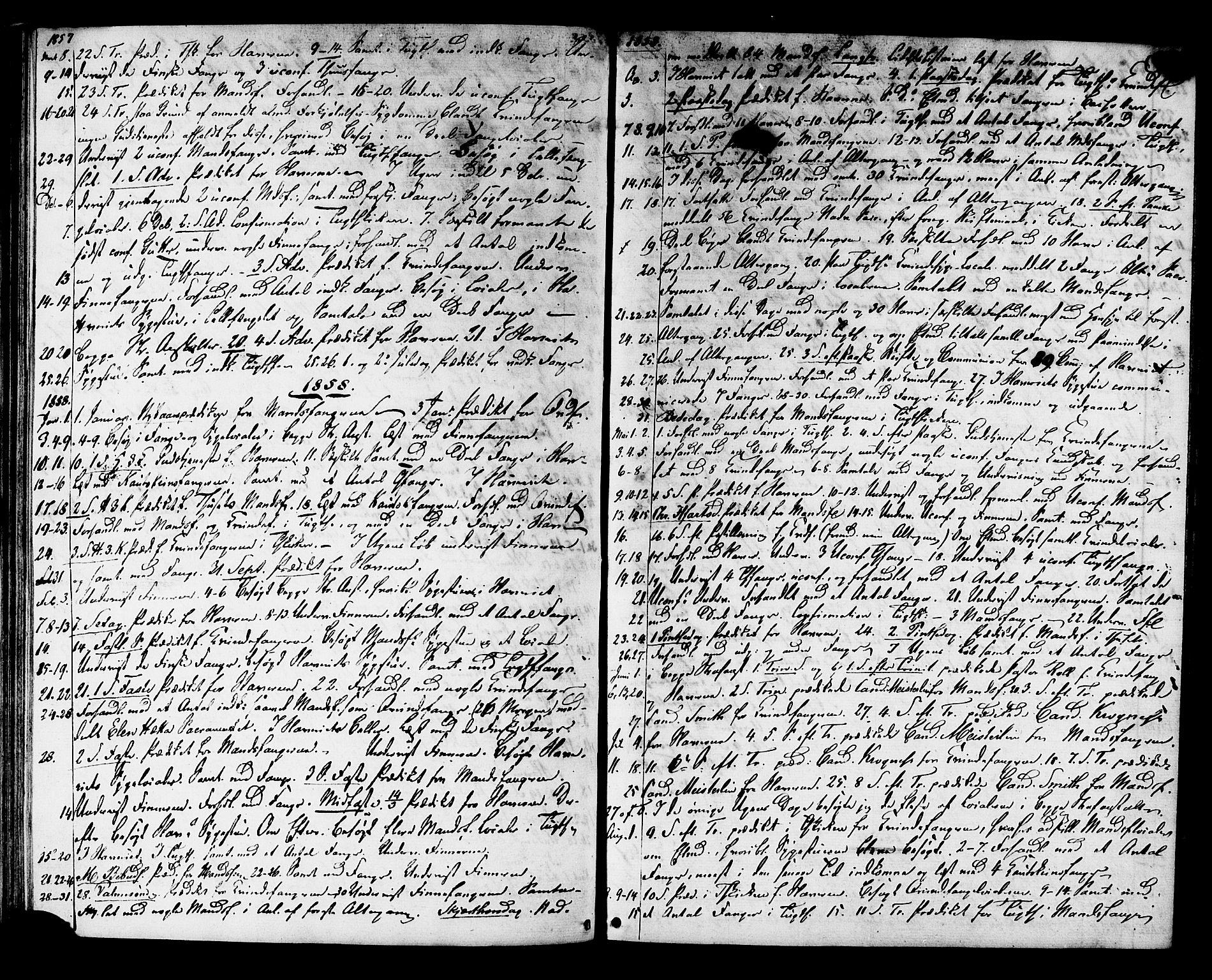 SAT, Ministerialprotokoller, klokkerbøker og fødselsregistre - Sør-Trøndelag, 624/L0481: Ministerialbok nr. 624A02, 1841-1869, s. 43