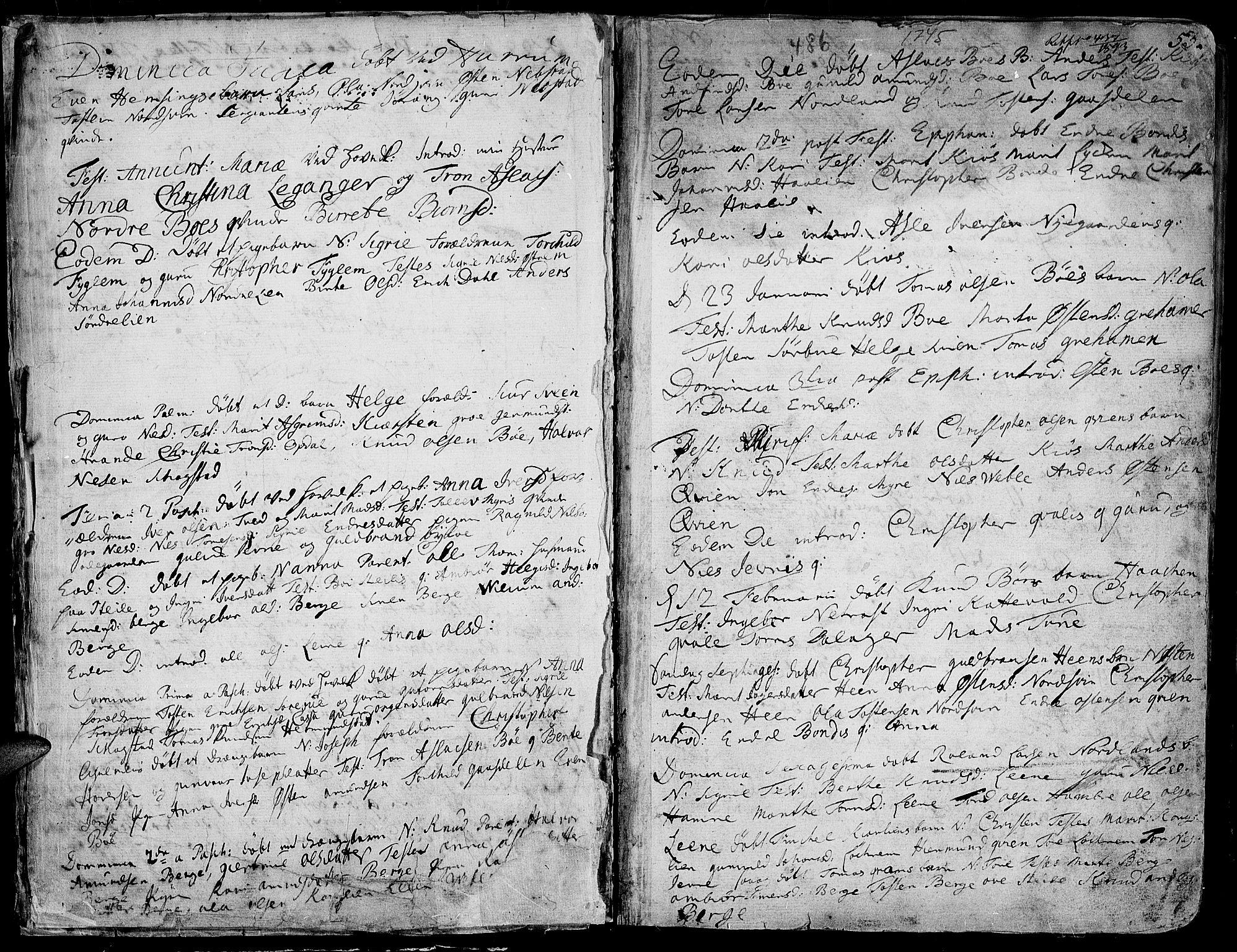 SAH, Vang prestekontor, Valdres, Ministerialbok nr. 1, 1730-1796, s. 53