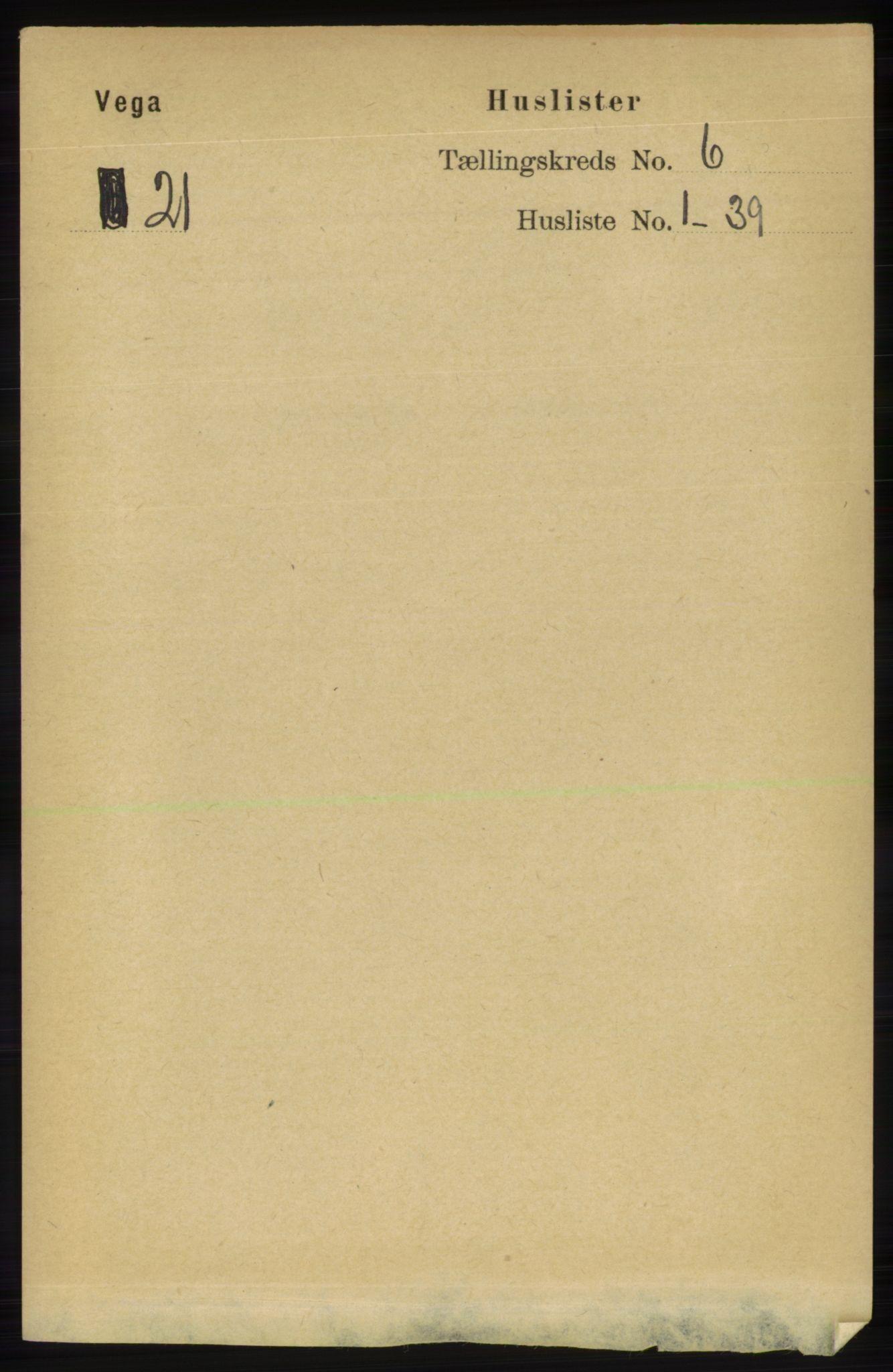 RA, Folketelling 1891 for 1815 Vega herred, 1891, s. 2523