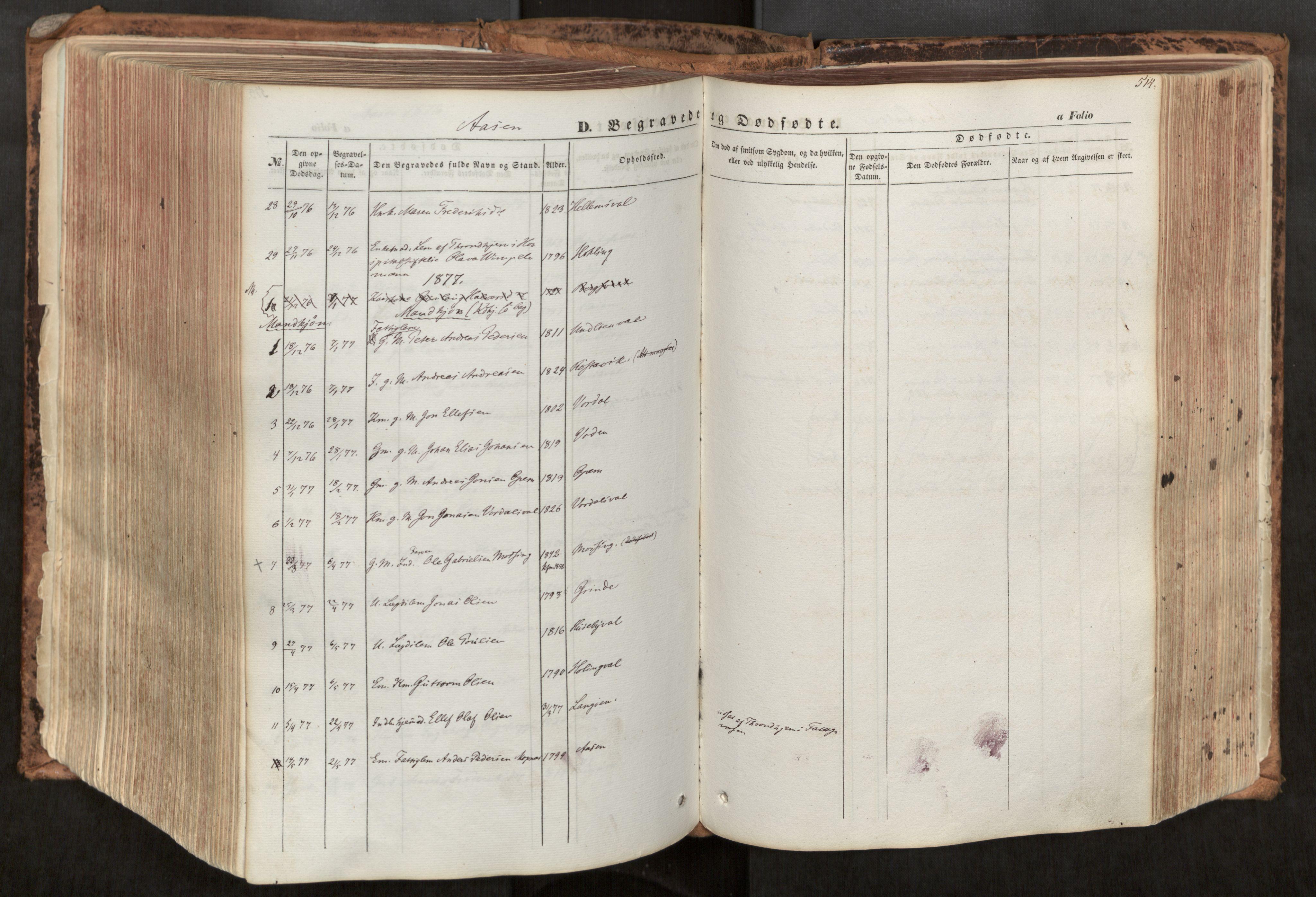 SAT, Ministerialprotokoller, klokkerbøker og fødselsregistre - Nord-Trøndelag, 713/L0116: Ministerialbok nr. 713A07, 1850-1877, s. 514