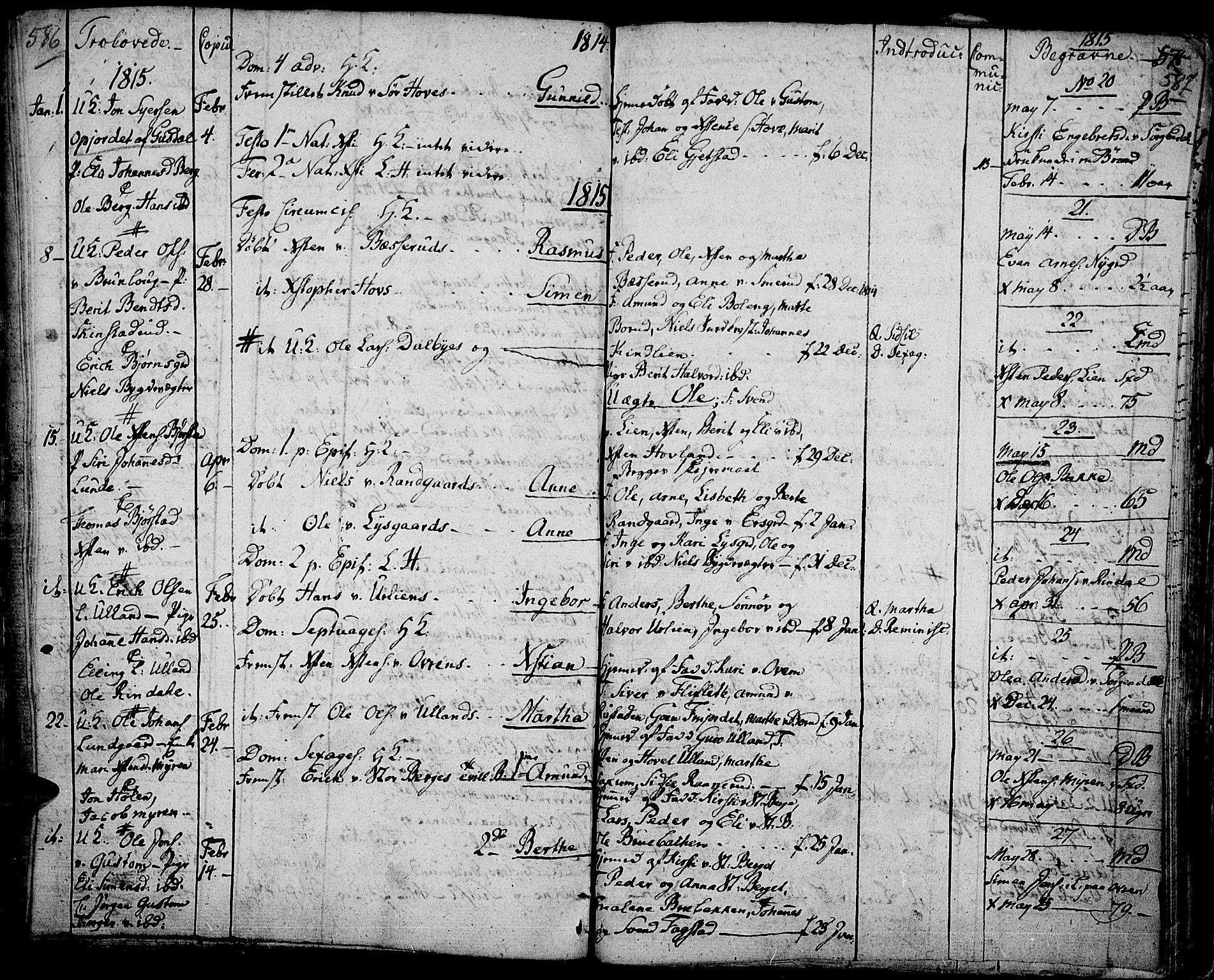 SAH, Fåberg prestekontor, Ministerialbok nr. 2, 1775-1818, s. 586-587