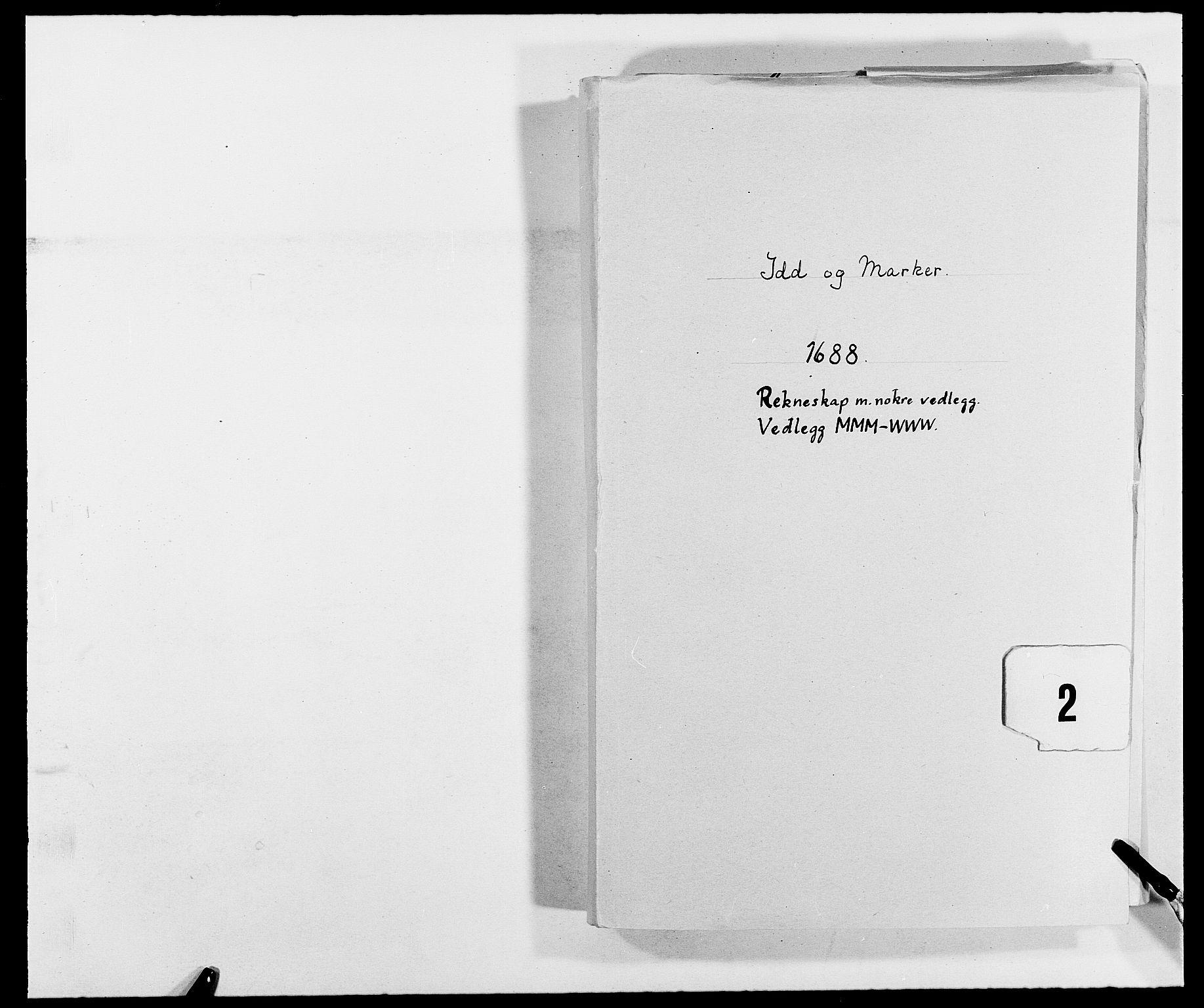 RA, Rentekammeret inntil 1814, Reviderte regnskaper, Fogderegnskap, R01/L0007: Fogderegnskap Idd og Marker, 1687-1688, s. 200