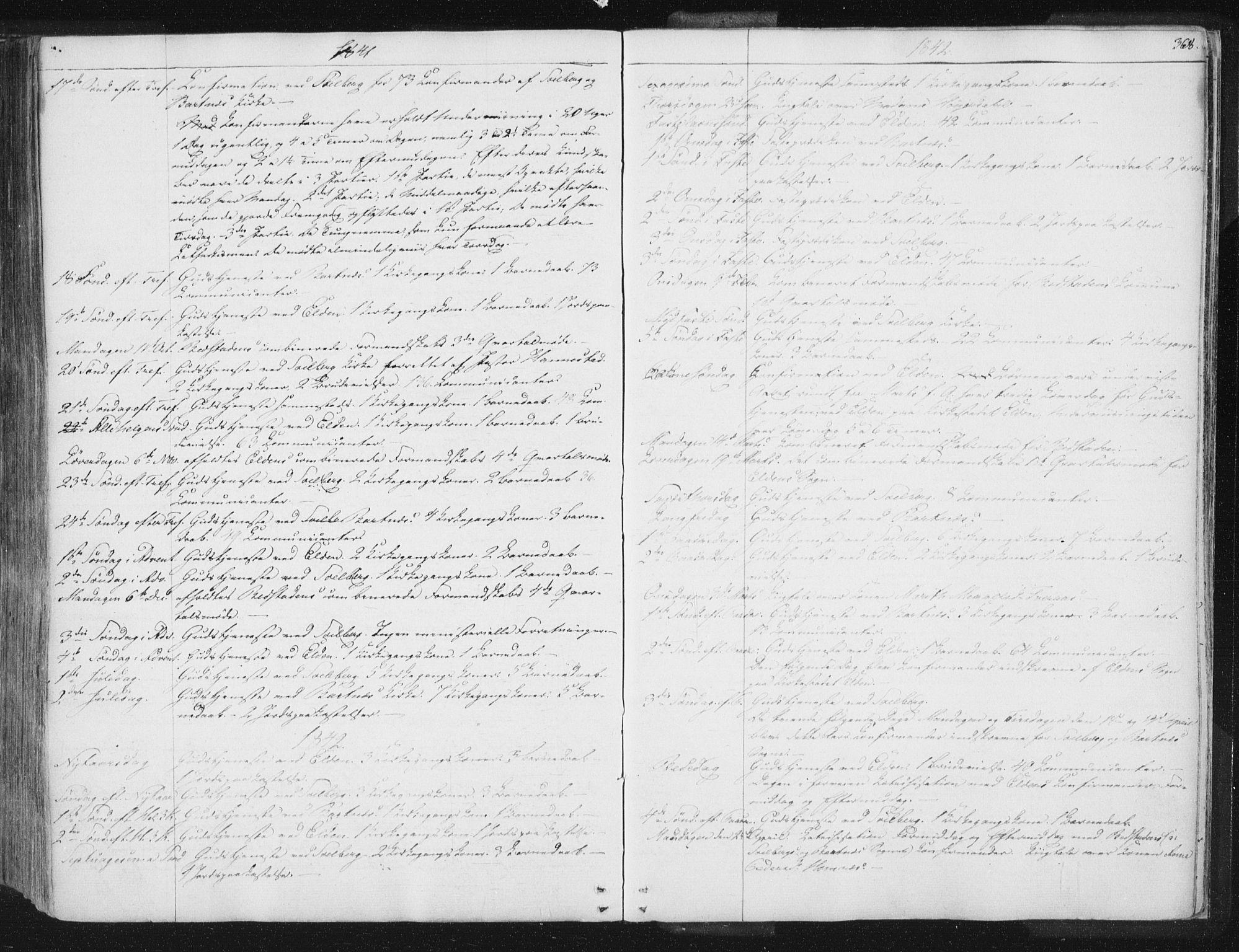 SAT, Ministerialprotokoller, klokkerbøker og fødselsregistre - Nord-Trøndelag, 741/L0392: Ministerialbok nr. 741A06, 1836-1848, s. 368