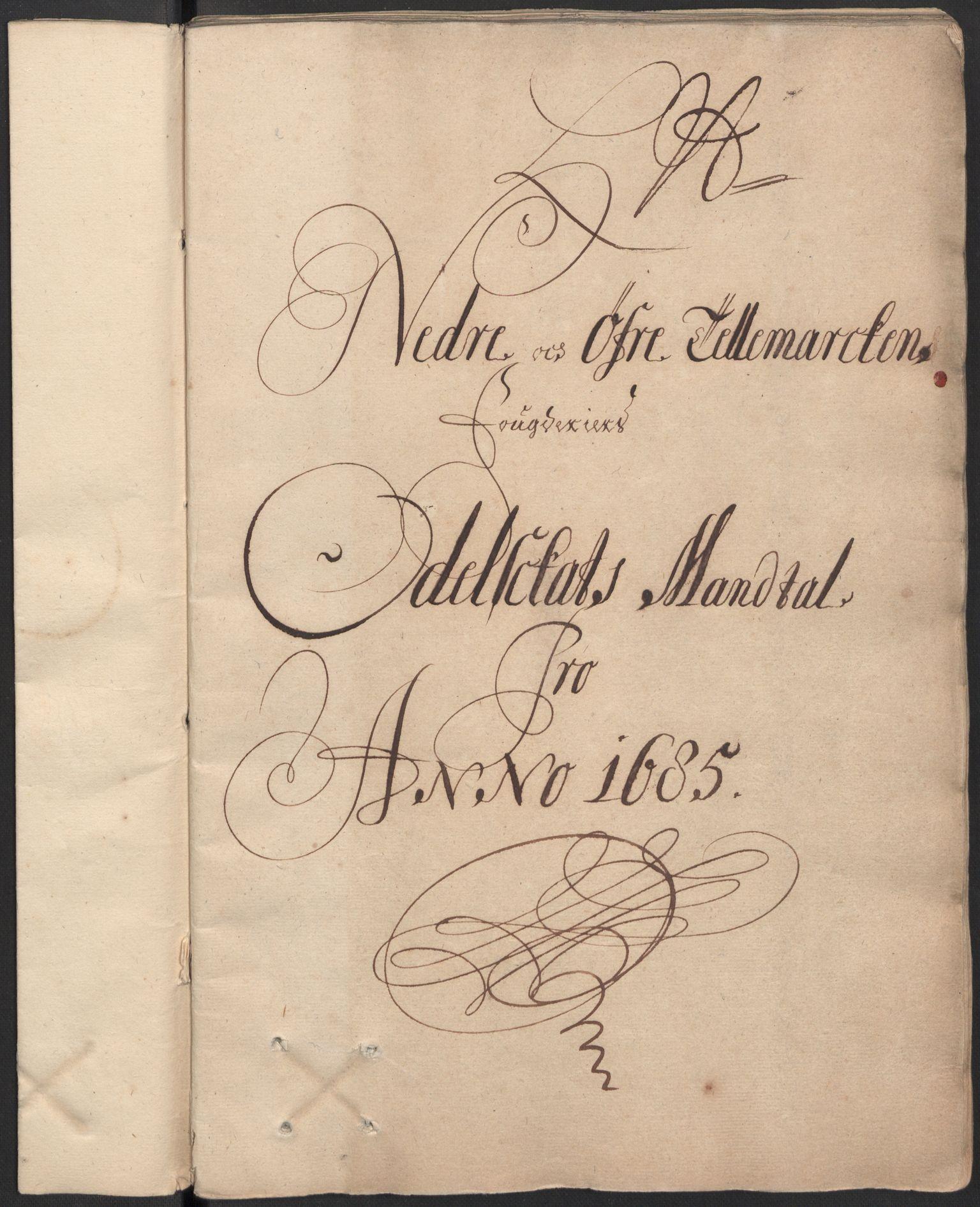 RA, Rentekammeret inntil 1814, Reviderte regnskaper, Fogderegnskap, R35/L2082: Fogderegnskap Øvre og Nedre Telemark, 1685, s. 232