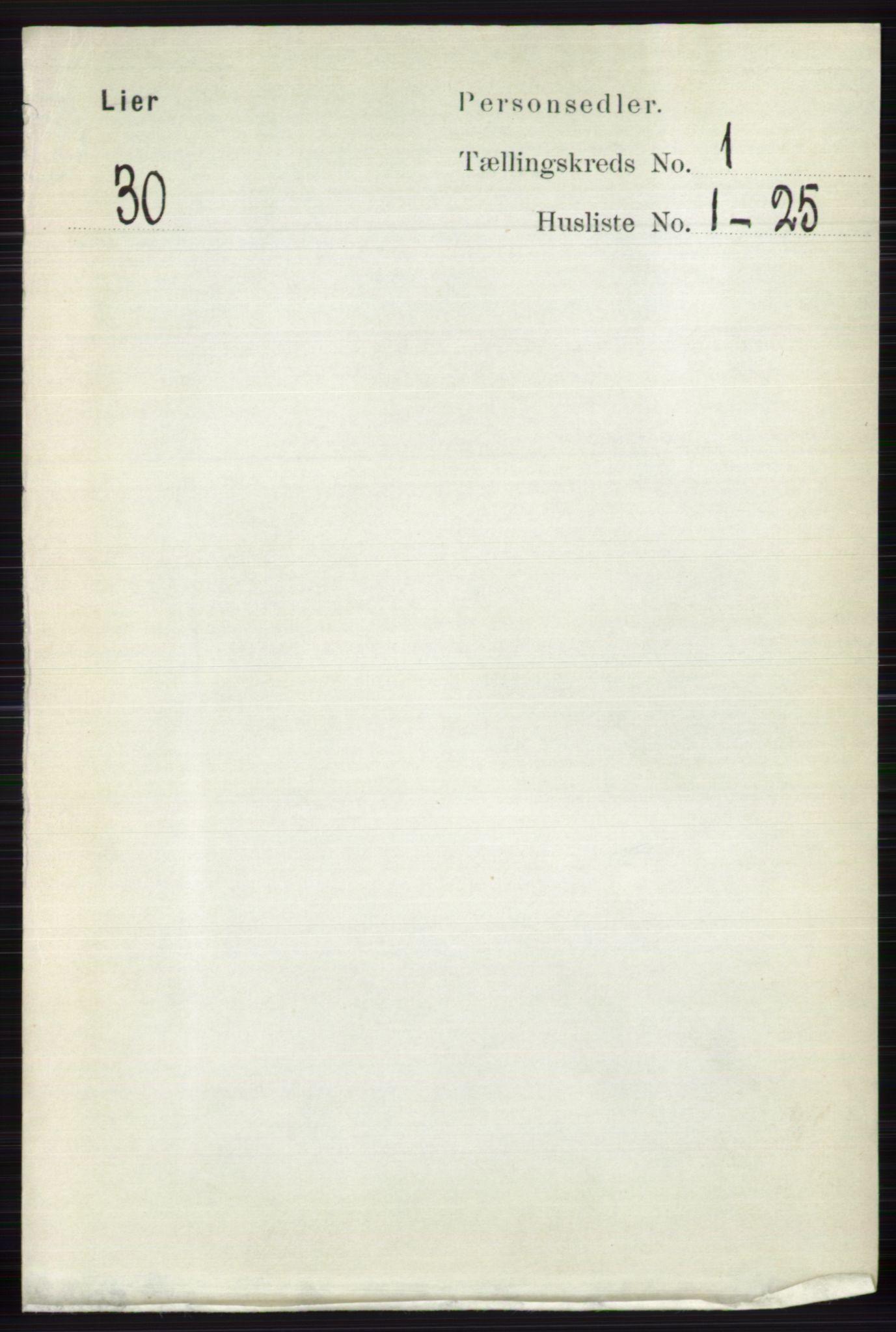 RA, Folketelling 1891 for 0626 Lier herred, 1891, s. 4525