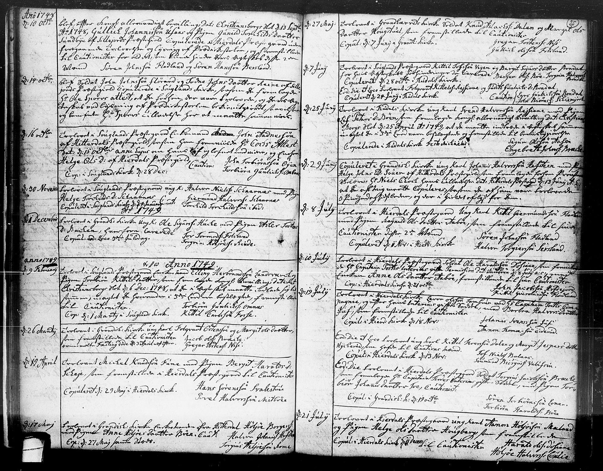 SAKO, Hjartdal kirkebøker, F/Fa/L0004: Ministerialbok nr. I 4, 1727-1795, s. 25
