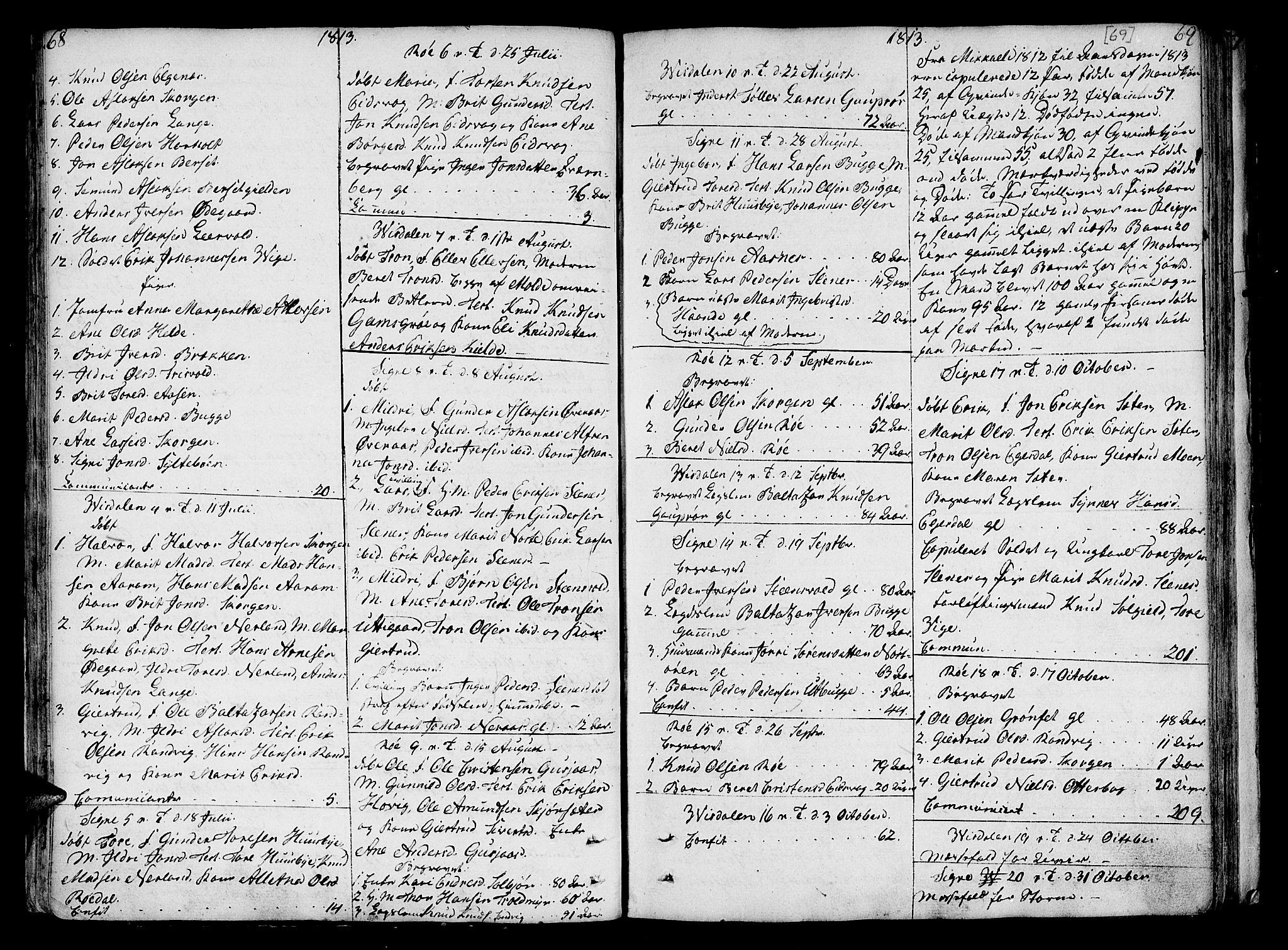 SAT, Ministerialprotokoller, klokkerbøker og fødselsregistre - Møre og Romsdal, 551/L0622: Ministerialbok nr. 551A02, 1804-1845, s. 68-69