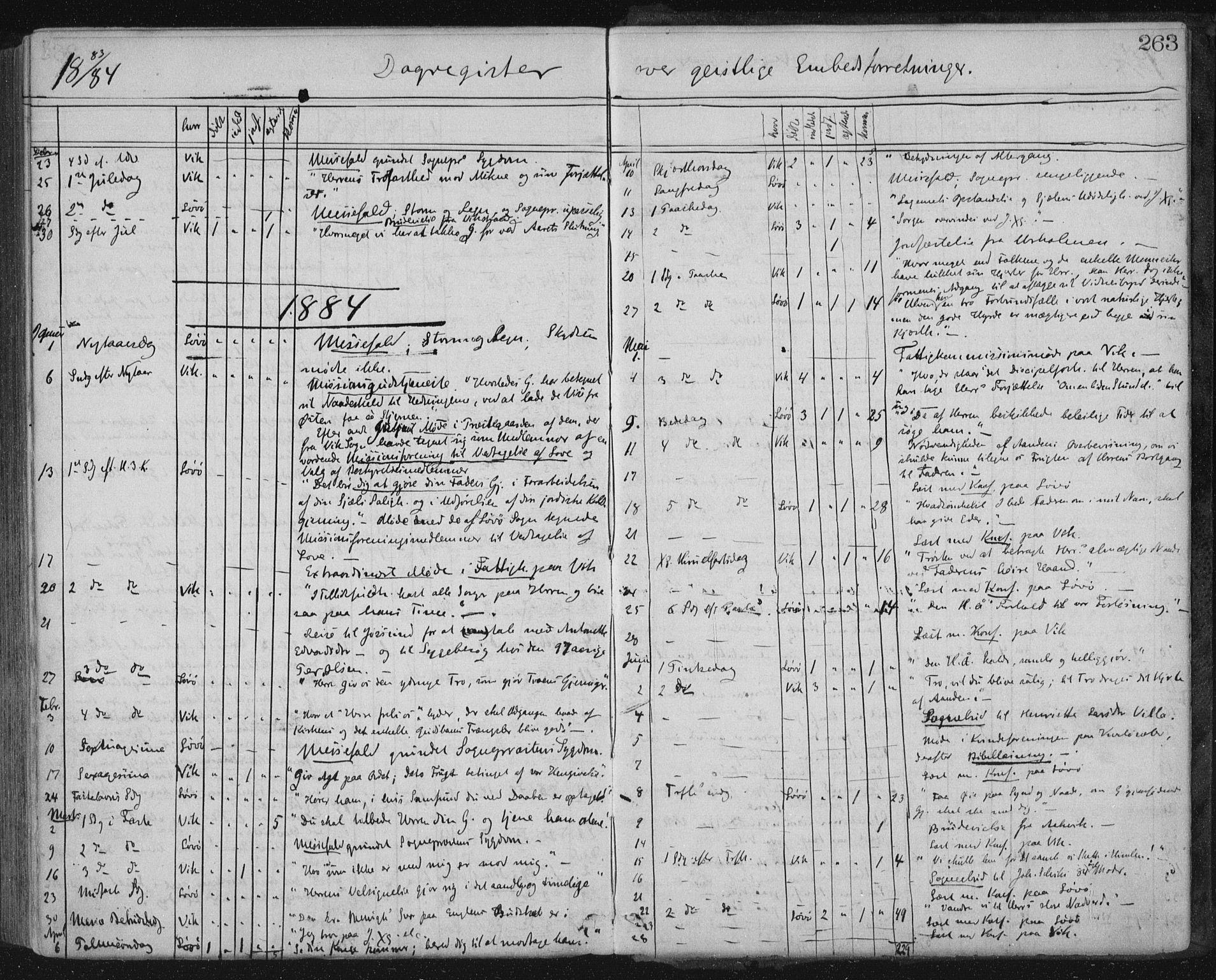 SAT, Ministerialprotokoller, klokkerbøker og fødselsregistre - Nord-Trøndelag, 771/L0596: Ministerialbok nr. 771A03, 1870-1884, s. 263
