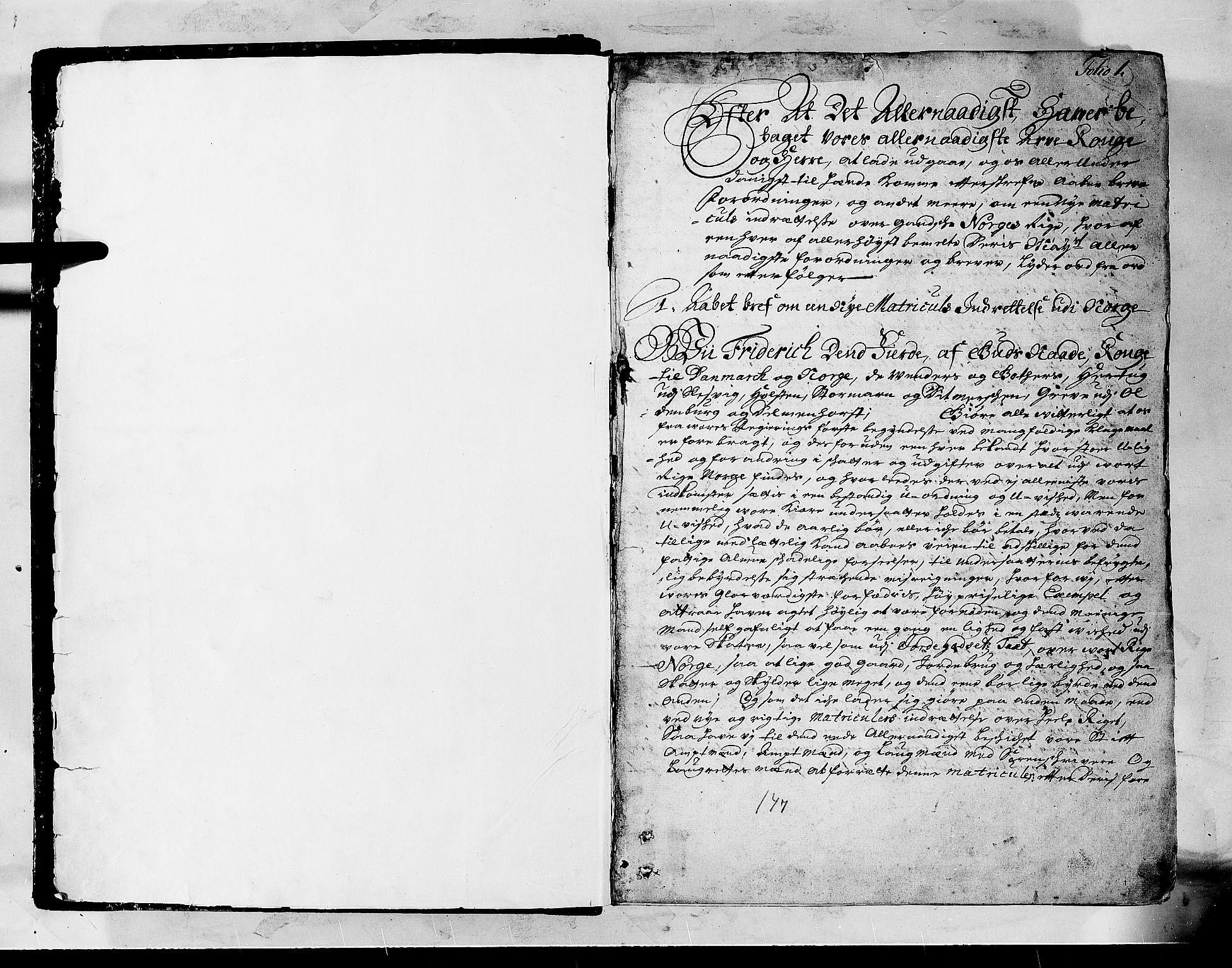 RA, Rentekammeret inntil 1814, Realistisk ordnet avdeling, N/Nb/Nbf/L0147: Sunnfjord og Nordfjord matrikkelprotokoll, 1723, s. 1a