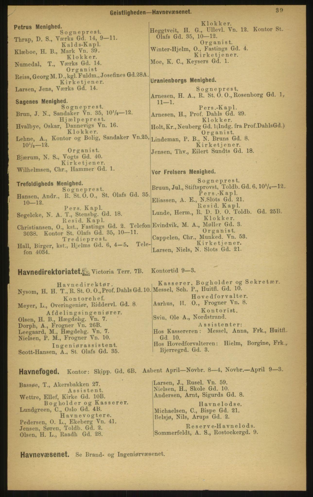 PUBL, Kristiania/Oslo adressebok, 1897, s. 39