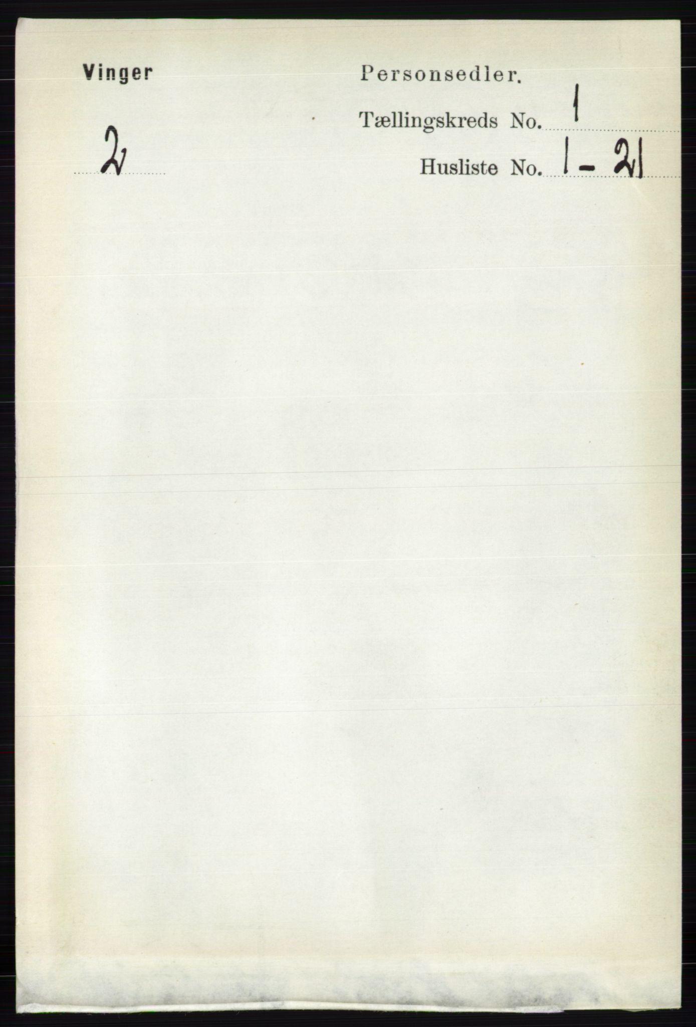 RA, Folketelling 1891 for 0421 Vinger herred, 1891, s. 90