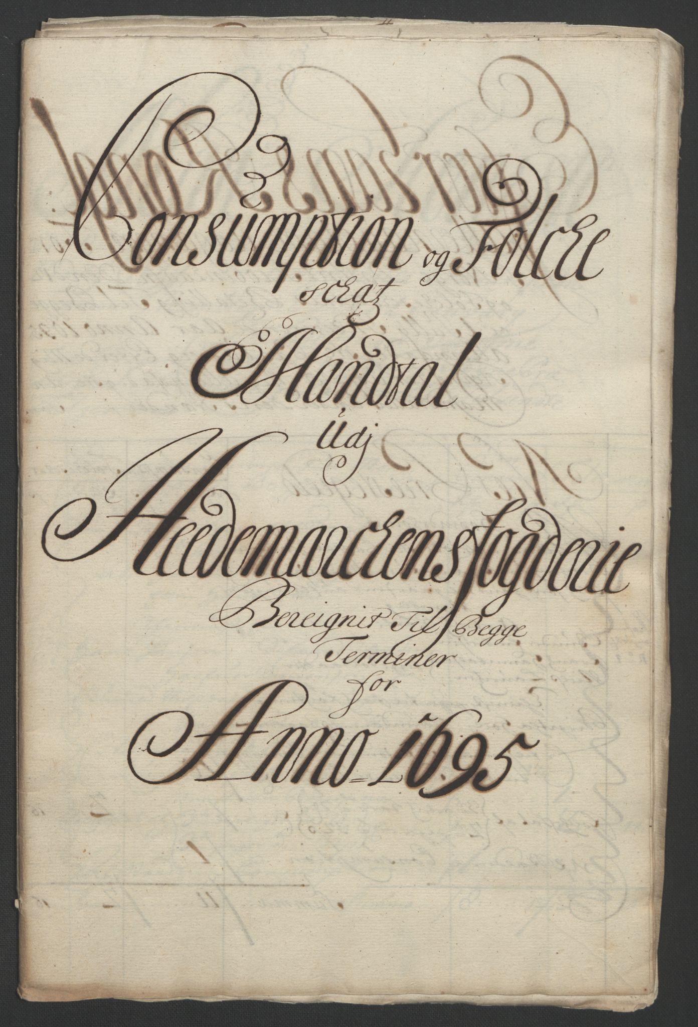 RA, Rentekammeret inntil 1814, Reviderte regnskaper, Fogderegnskap, R16/L1036: Fogderegnskap Hedmark, 1695-1696, s. 81