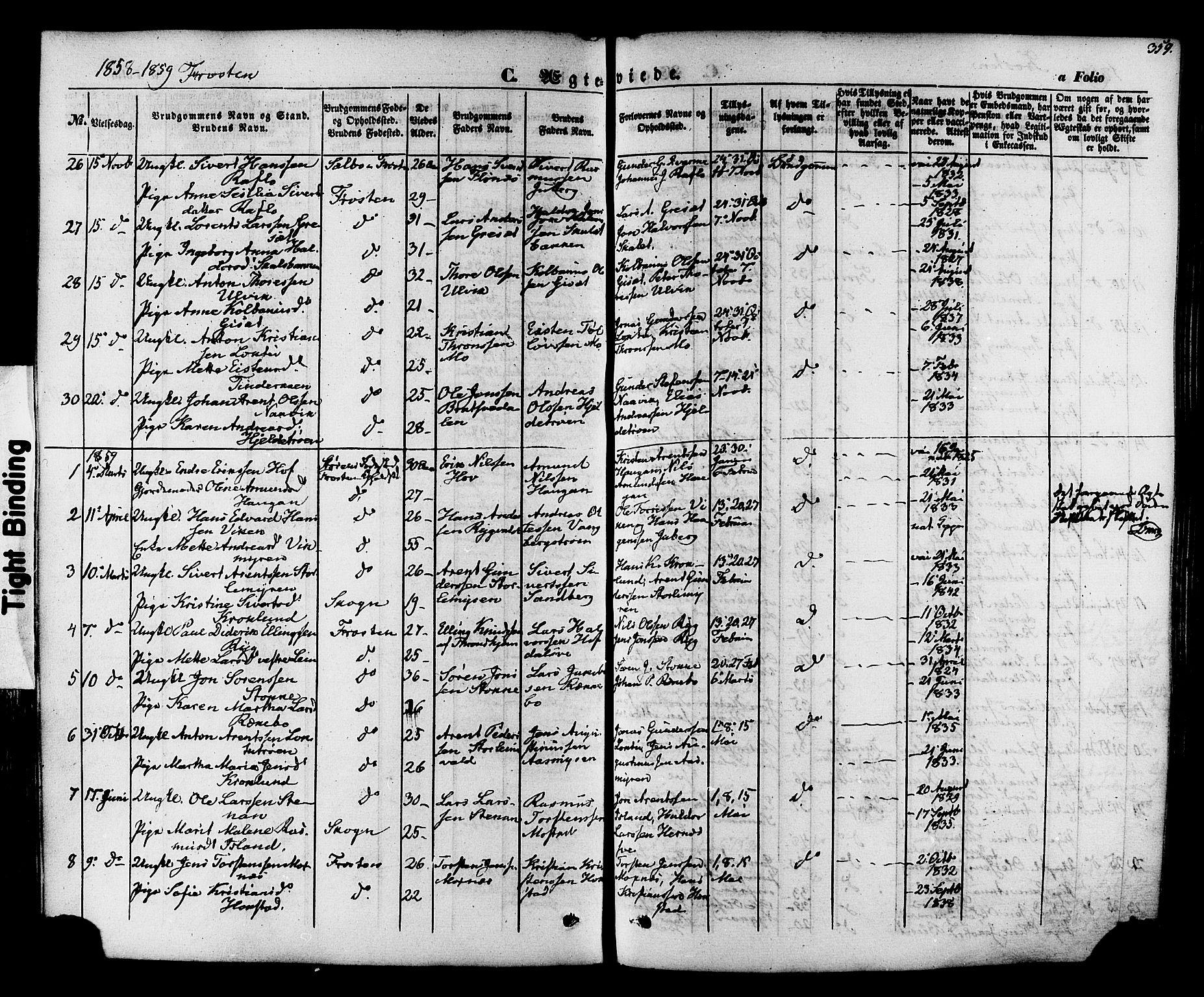 SAT, Ministerialprotokoller, klokkerbøker og fødselsregistre - Nord-Trøndelag, 713/L0116: Ministerialbok nr. 713A07 /1, 1850-1877, s. 359