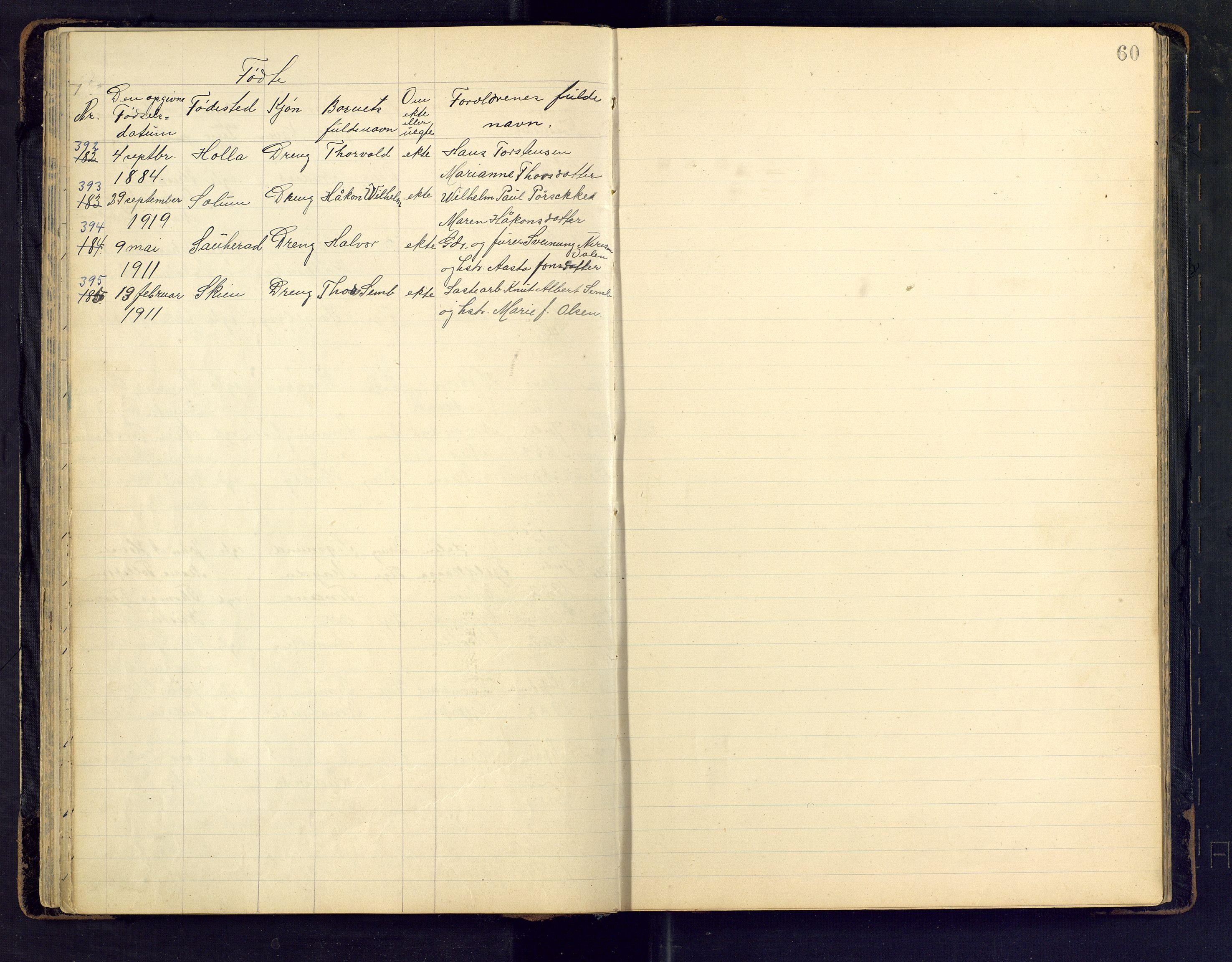 SAKO, Den evangelisk lutherske frimenighet i Jarlsbergs grevskap med flere steder, F/Fb/L0002: Dissenterprotokoll nr. Fa/L0002, 1906-1922, s. 60