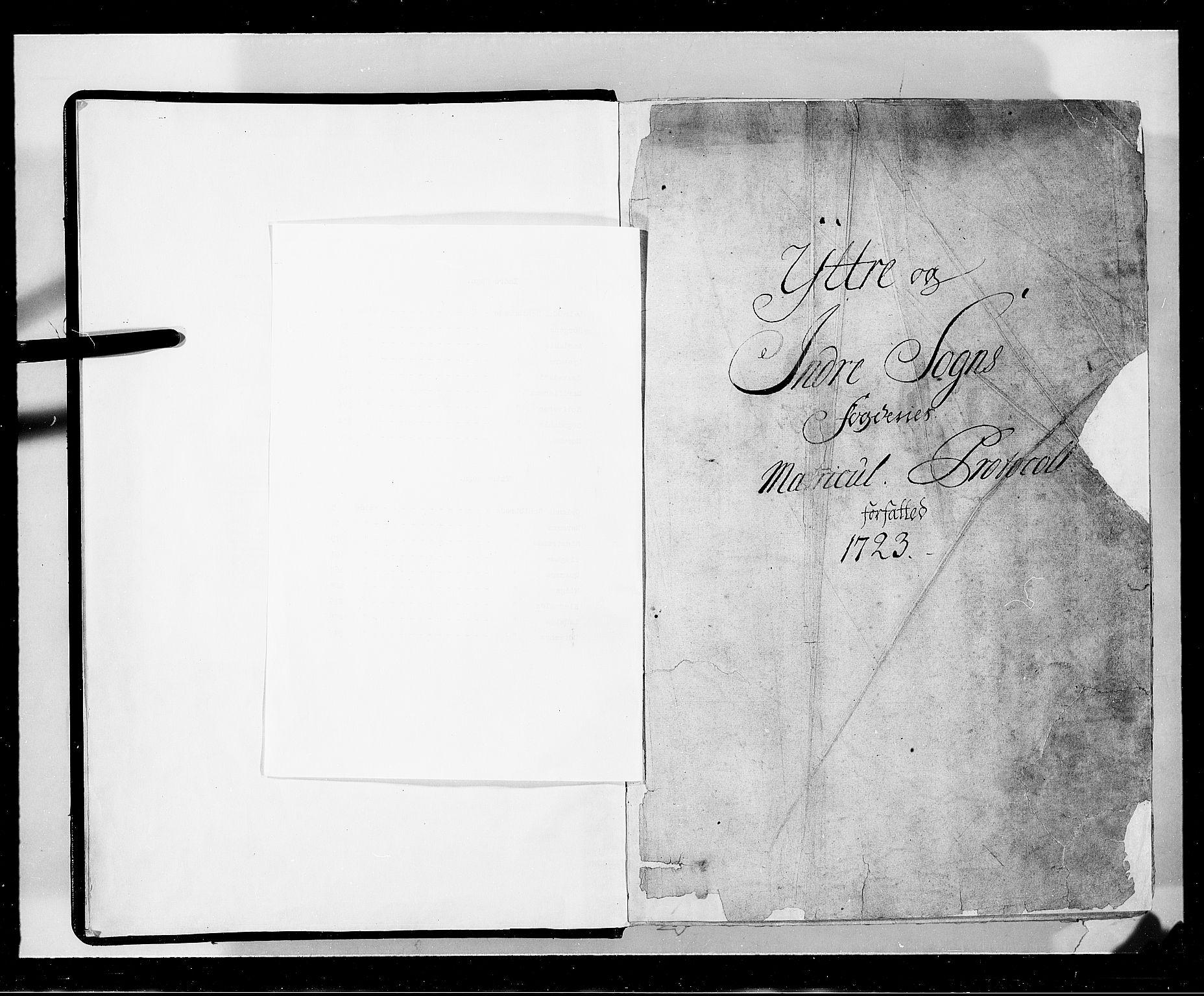 RA, Rentekammeret inntil 1814, Realistisk ordnet avdeling, N/Nb/Nbf/L0143: Ytre og Indre Sogn eksaminasjonsprotokoll, 1723, s. upaginert