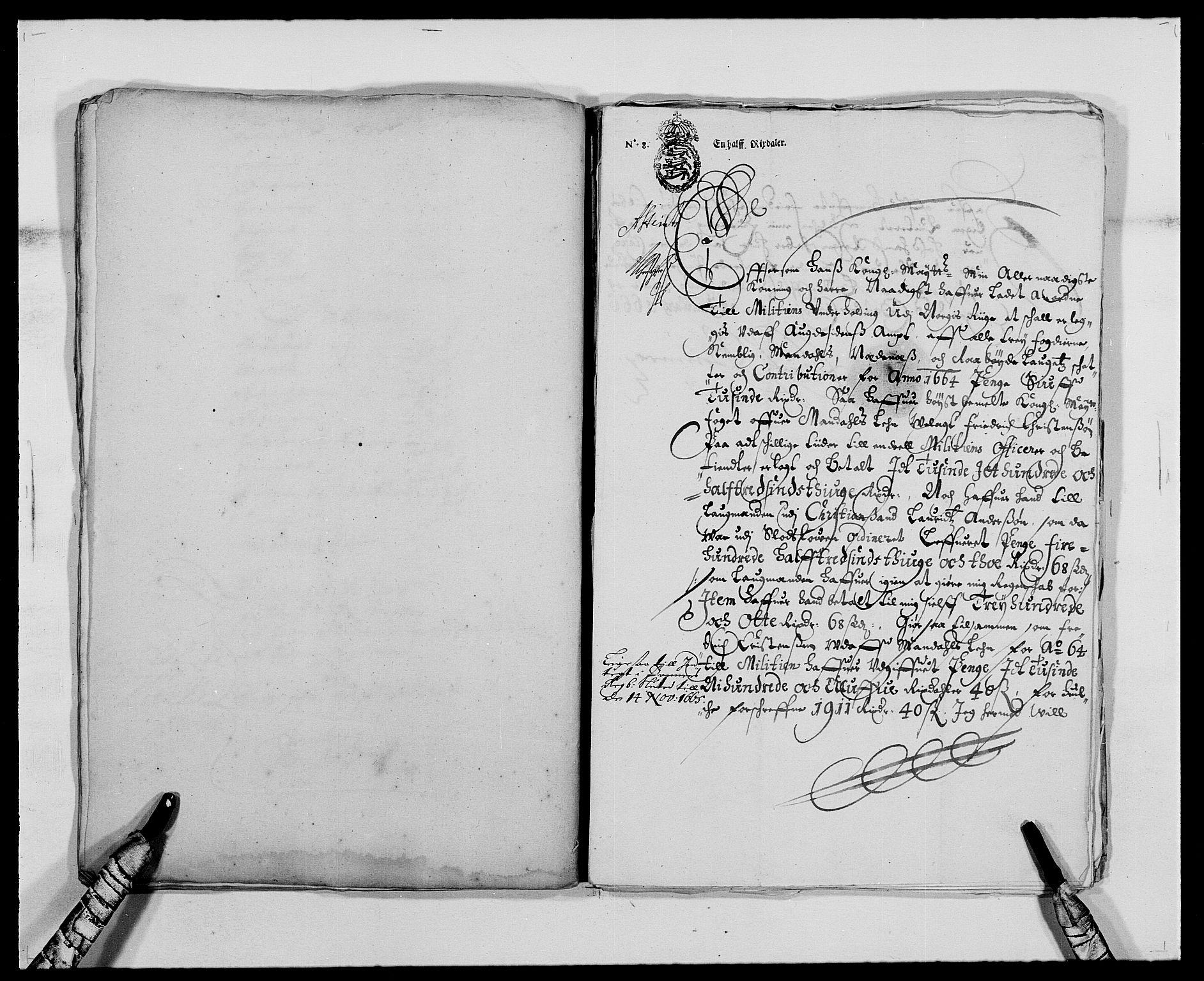 RA, Rentekammeret inntil 1814, Reviderte regnskaper, Fogderegnskap, R42/L2537: Mandal fogderi, 1664-1666, s. 65