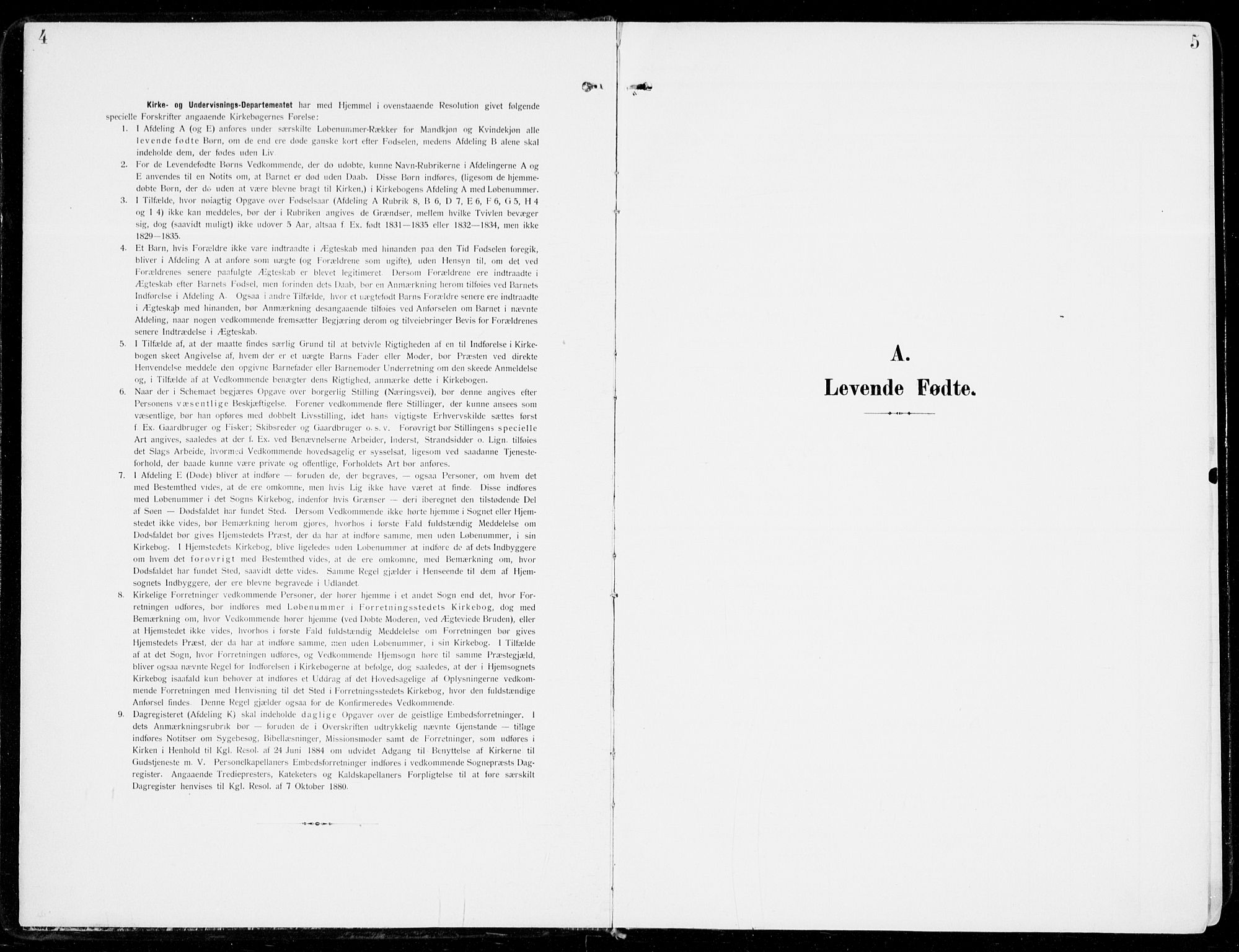 SAKO, Sem kirkebøker, F/Fb/L0006: Ministerialbok nr. II 6, 1905-1918, s. 4-5