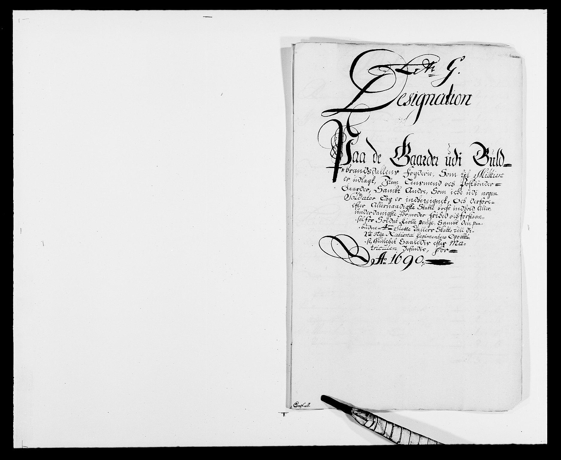 RA, Rentekammeret inntil 1814, Reviderte regnskaper, Fogderegnskap, R17/L1165: Fogderegnskap Gudbrandsdal, 1690-1692, s. 138