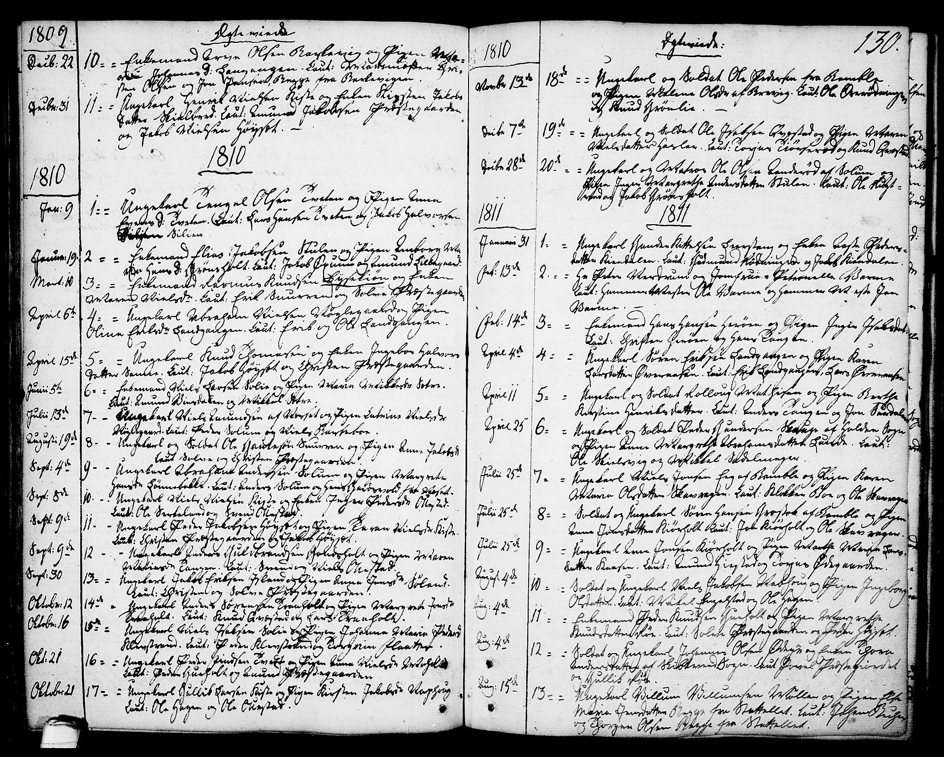 SAKO, Eidanger kirkebøker, F/Fa/L0006: Ministerialbok nr. 6, 1764-1814, s. 130