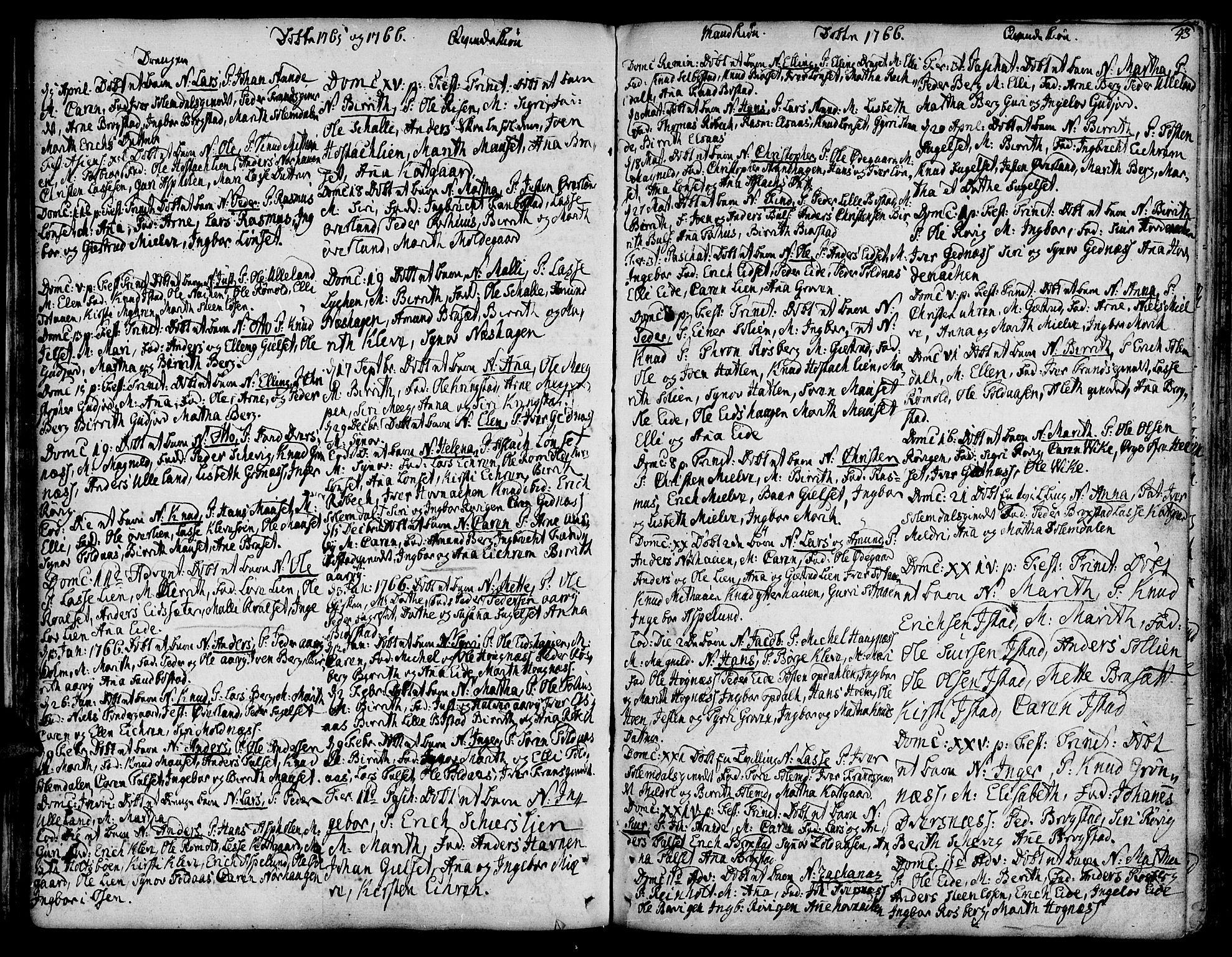 SAT, Ministerialprotokoller, klokkerbøker og fødselsregistre - Møre og Romsdal, 555/L0648: Ministerialbok nr. 555A01, 1759-1793, s. 43