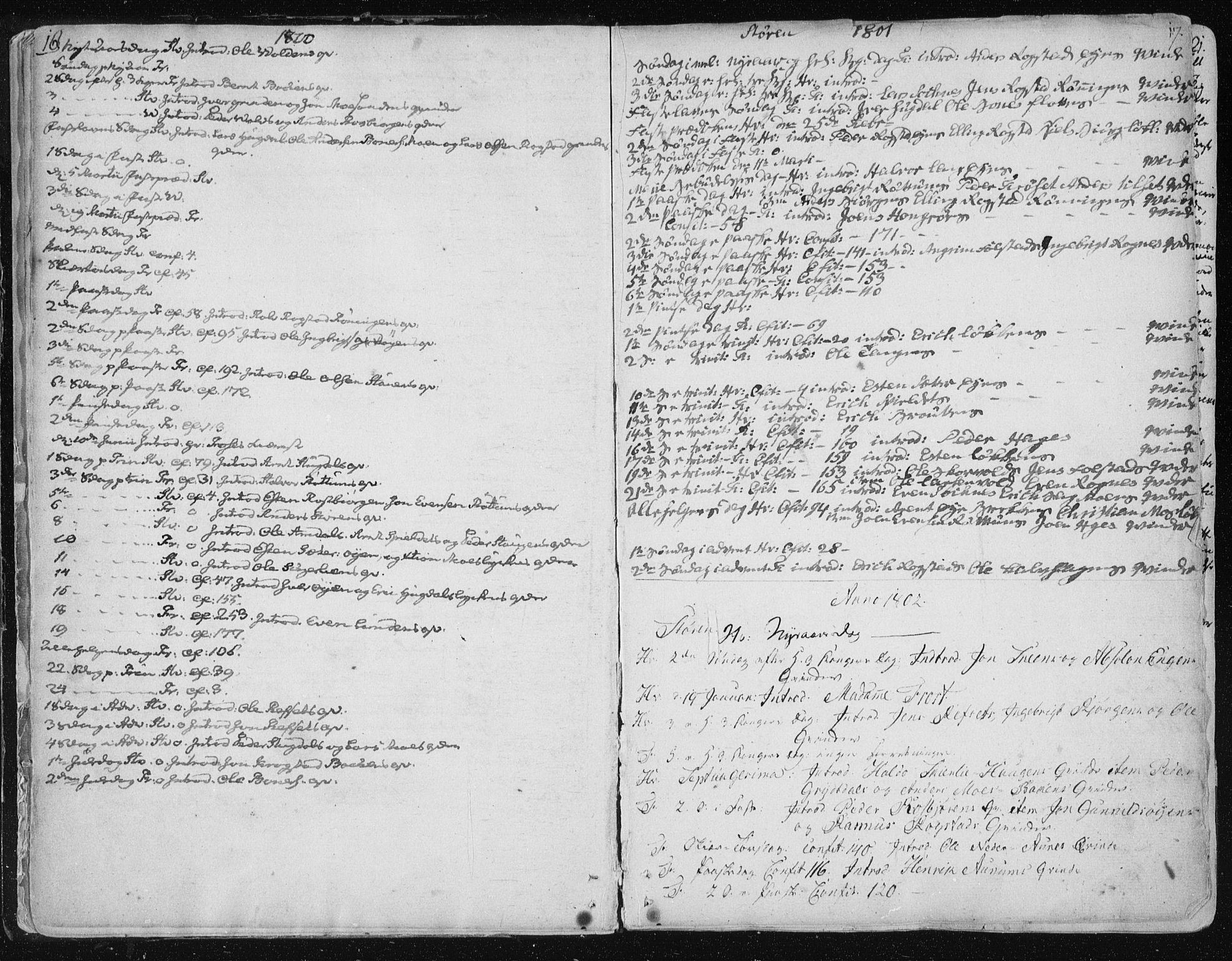SAT, Ministerialprotokoller, klokkerbøker og fødselsregistre - Sør-Trøndelag, 687/L0992: Ministerialbok nr. 687A03 /1, 1788-1815, s. 16-17