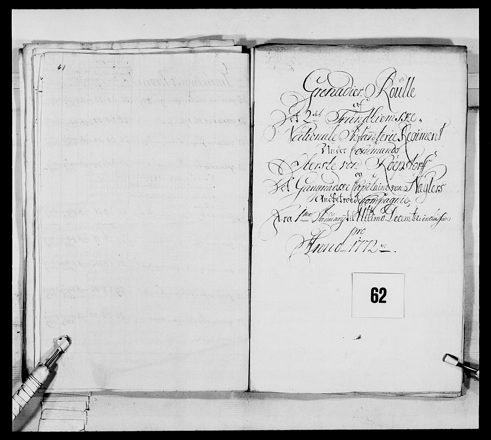 RA, Generalitets- og kommissariatskollegiet, Det kongelige norske kommissariatskollegium, E/Eh/L0076: 2. Trondheimske nasjonale infanteriregiment, 1766-1773, s. 216