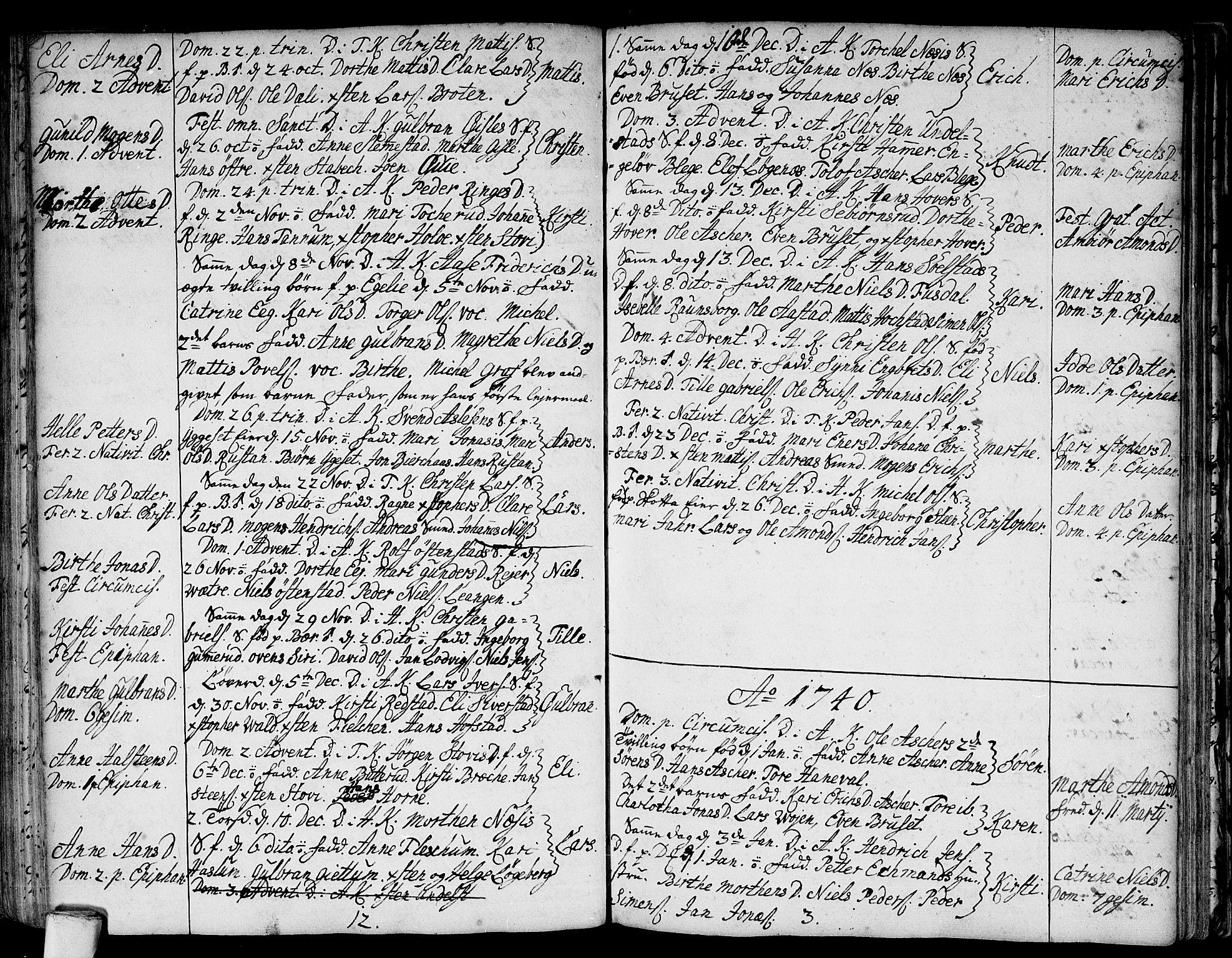 SAO, Asker prestekontor Kirkebøker, F/Fa/L0001: Ministerialbok nr. I 1, 1726-1744, s. 63