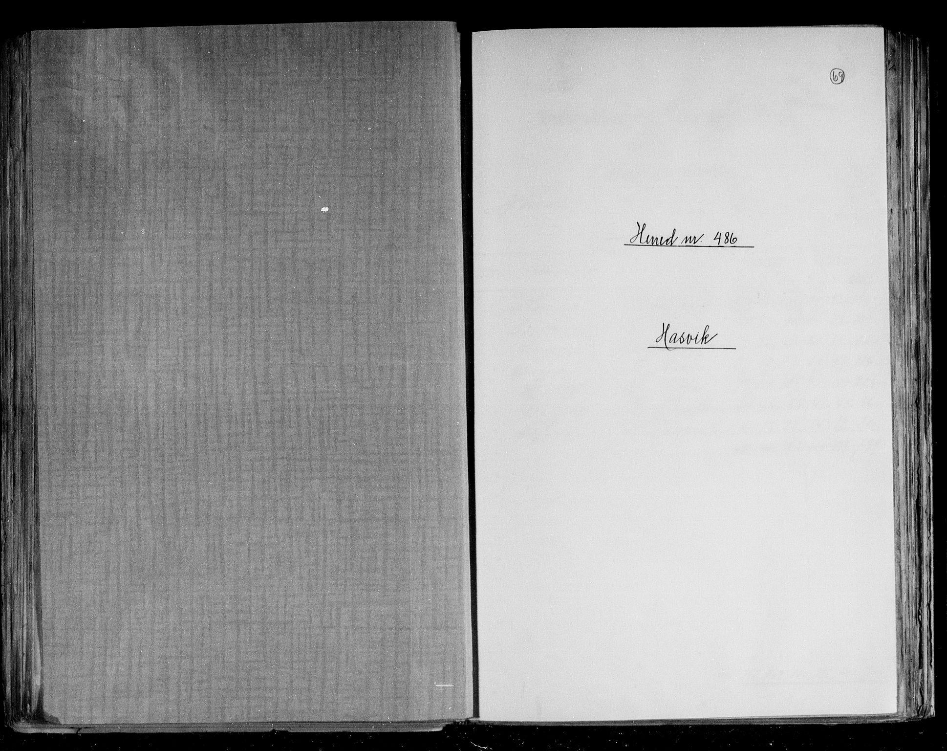 RA, Folketelling 1891 for 2015 Hasvik herred, 1891, s. 1