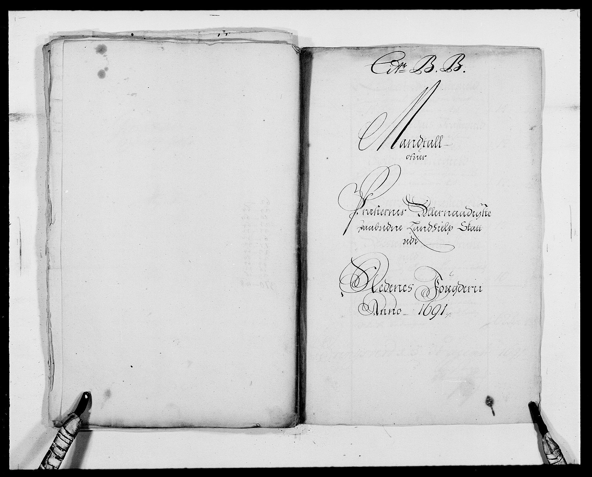 RA, Rentekammeret inntil 1814, Reviderte regnskaper, Fogderegnskap, R39/L2311: Fogderegnskap Nedenes, 1690-1692, s. 142