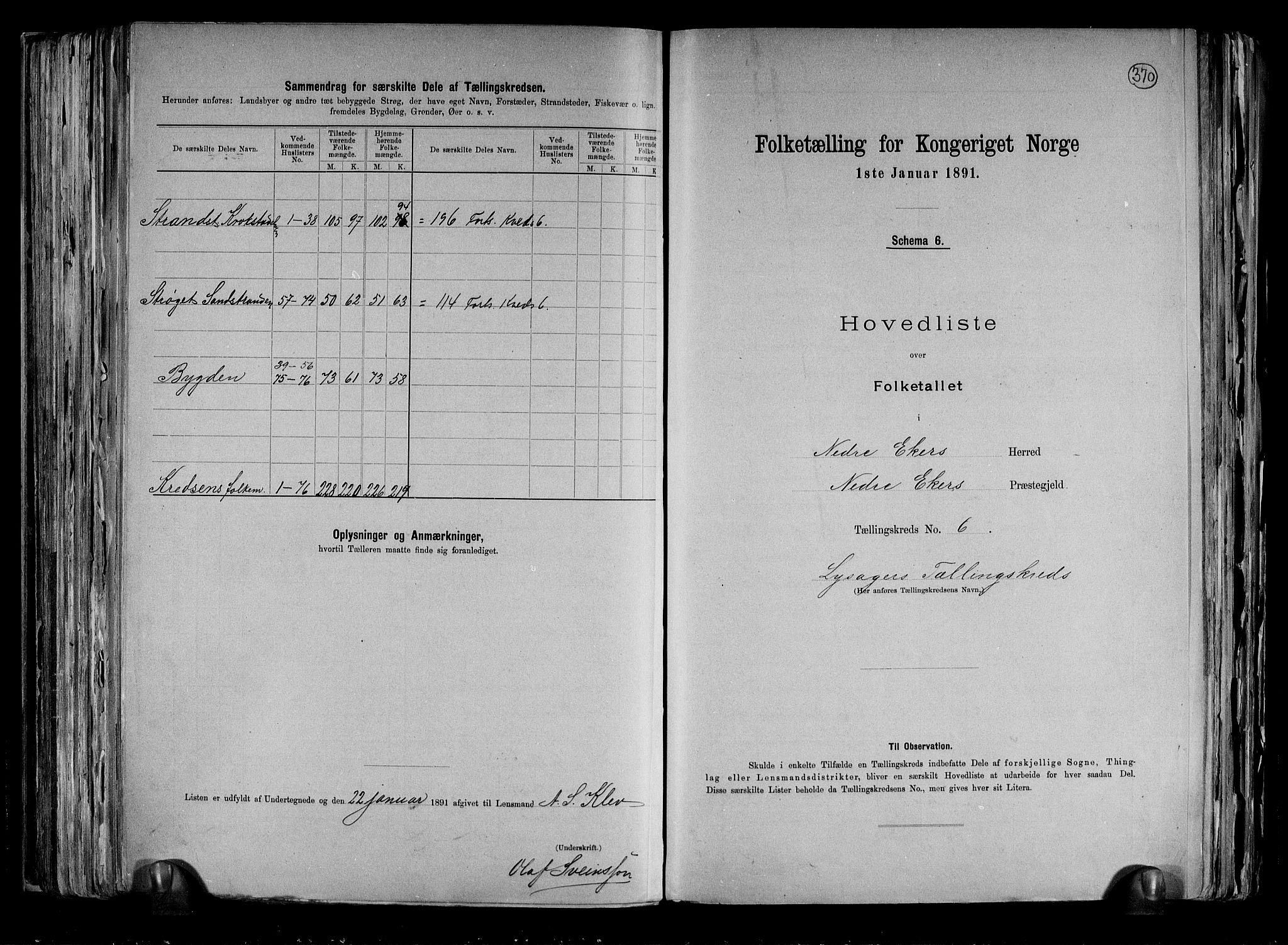 RA, Folketelling 1891 for 0625 Nedre Eiker herred, 1891, s. 17