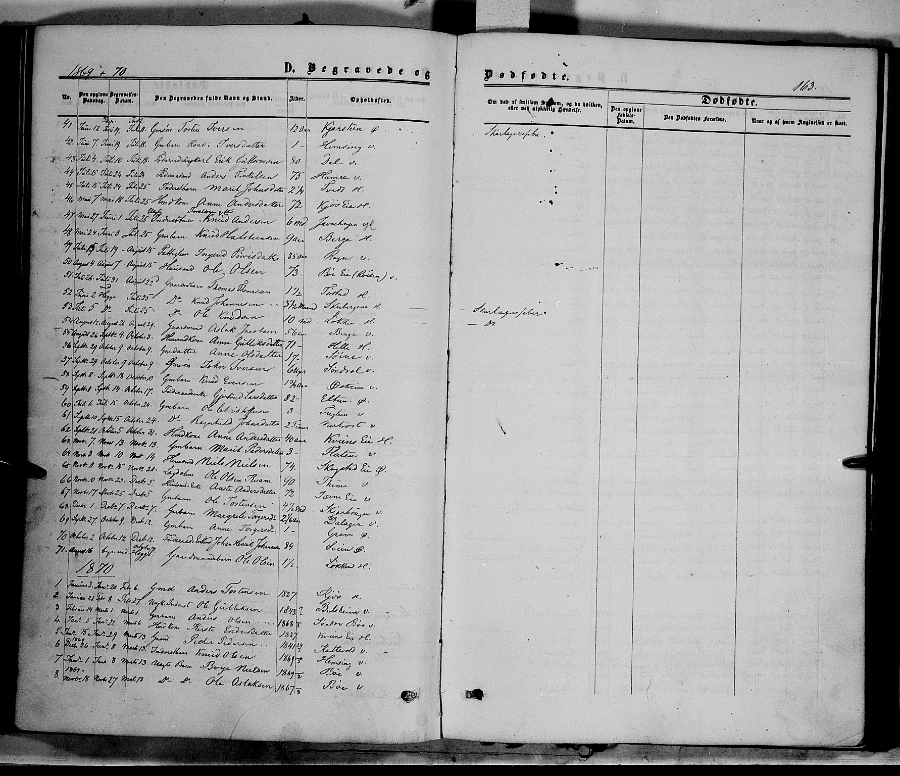 SAH, Vang prestekontor, Valdres, Ministerialbok nr. 7, 1865-1881, s. 163