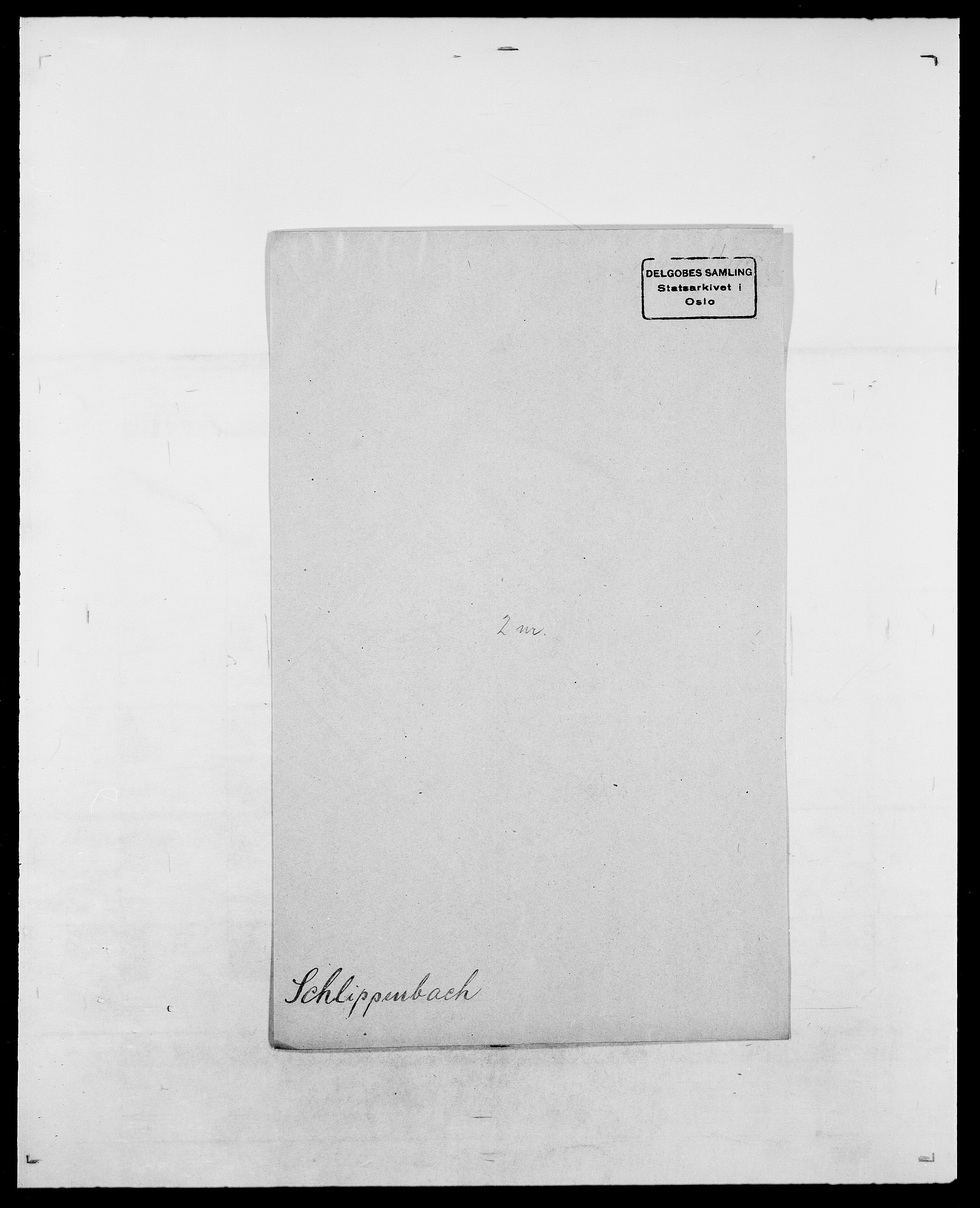 SAO, Delgobe, Charles Antoine - samling, D/Da/L0034: Saabye - Schmincke, s. 821