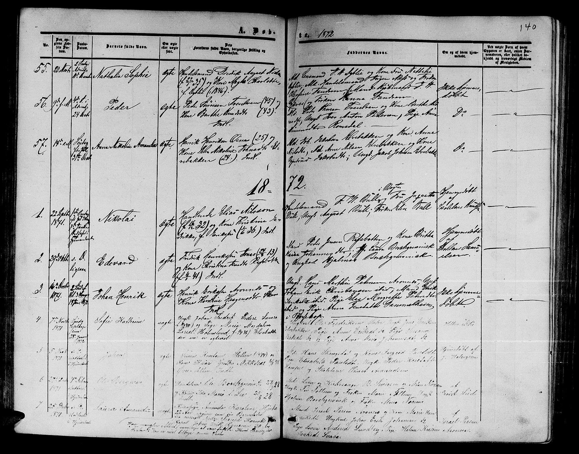 SATØ, Alta sokneprestembete, Klokkerbok nr. 1, 1858-1878, s. 139-140