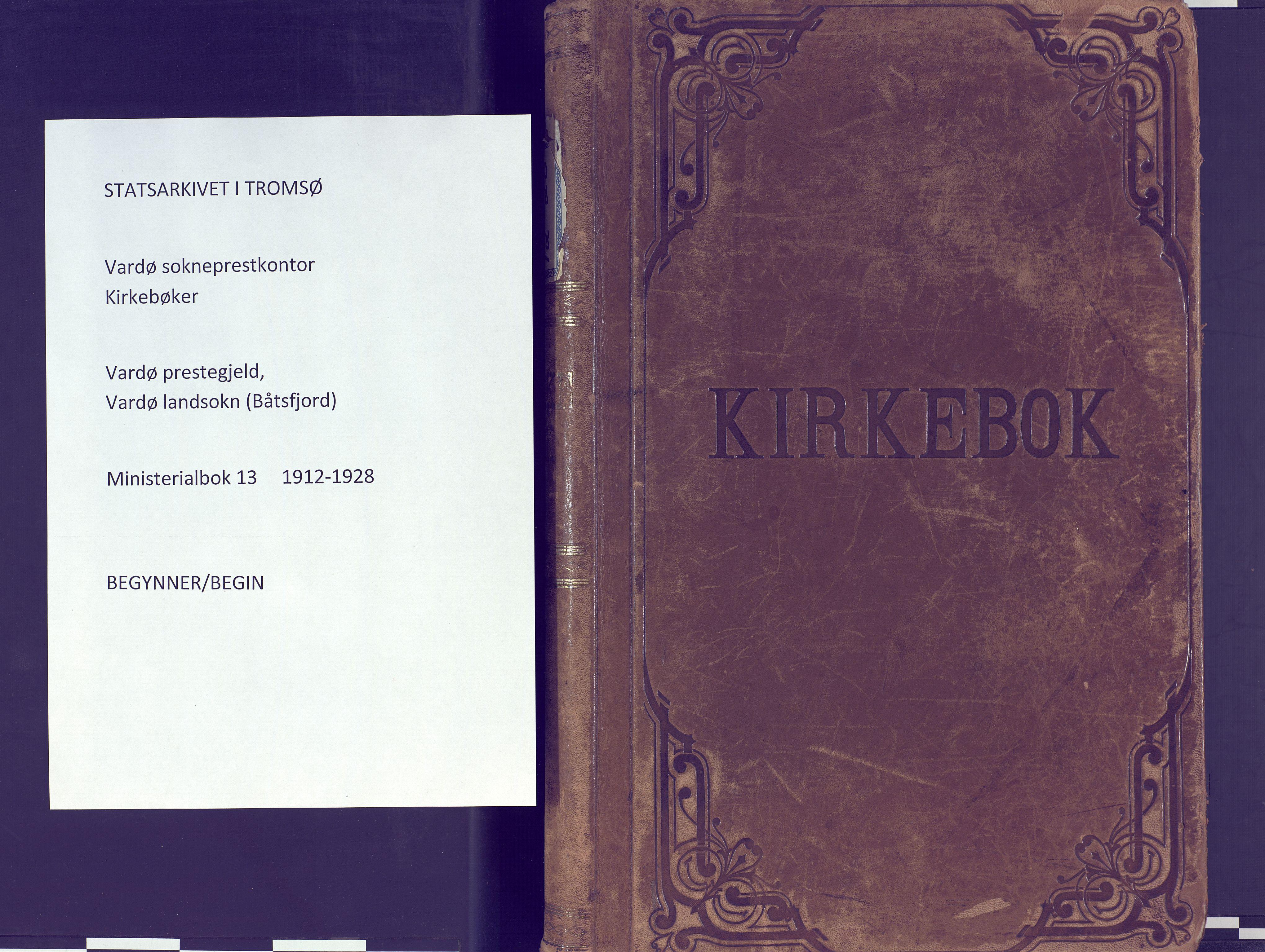 SATØ, Vardø sokneprestkontor, H/Ha/L0013kirke: Ministerialbok nr. 13, 1912-1928