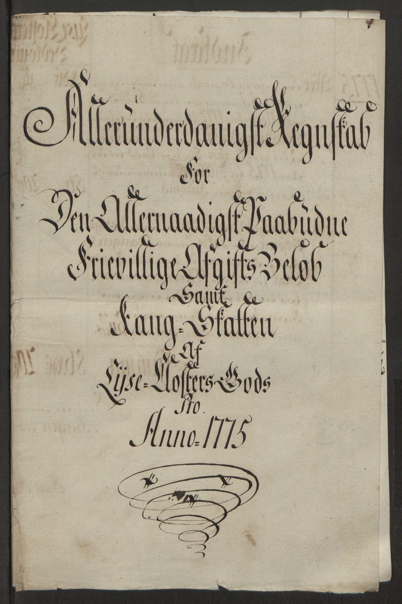 RA, Rentekammeret inntil 1814, Reviderte regnskaper, Fogderegnskap, R50/L3180: Ekstraskatten Lyse kloster, 1762-1783, s. 362