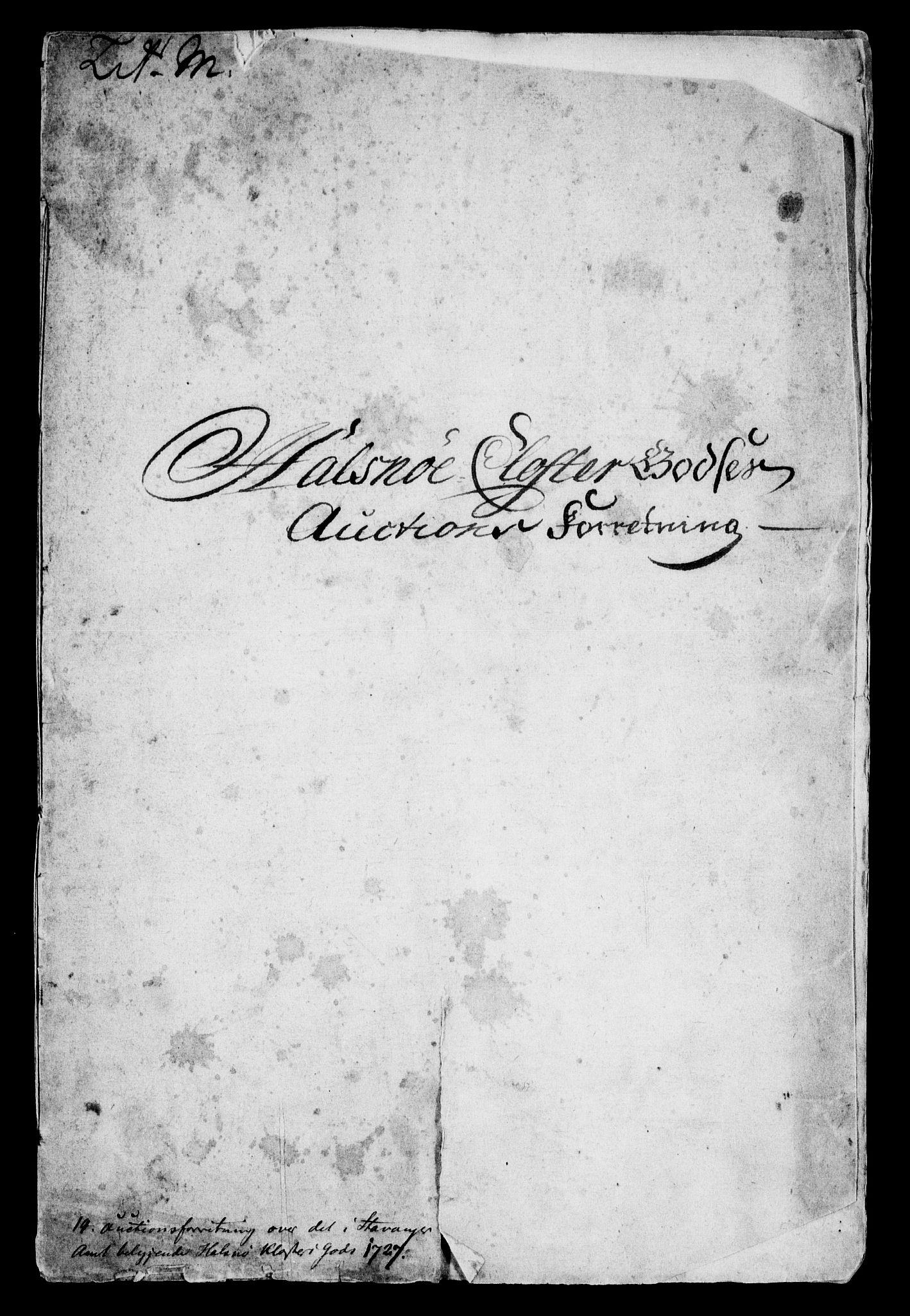 RA, Rentekammeret inntil 1814, Realistisk ordnet avdeling, On/L0005: [Jj 6]: Forskjellige dokumenter om Halsnøy klosters gods, 1697-1770, s. 443