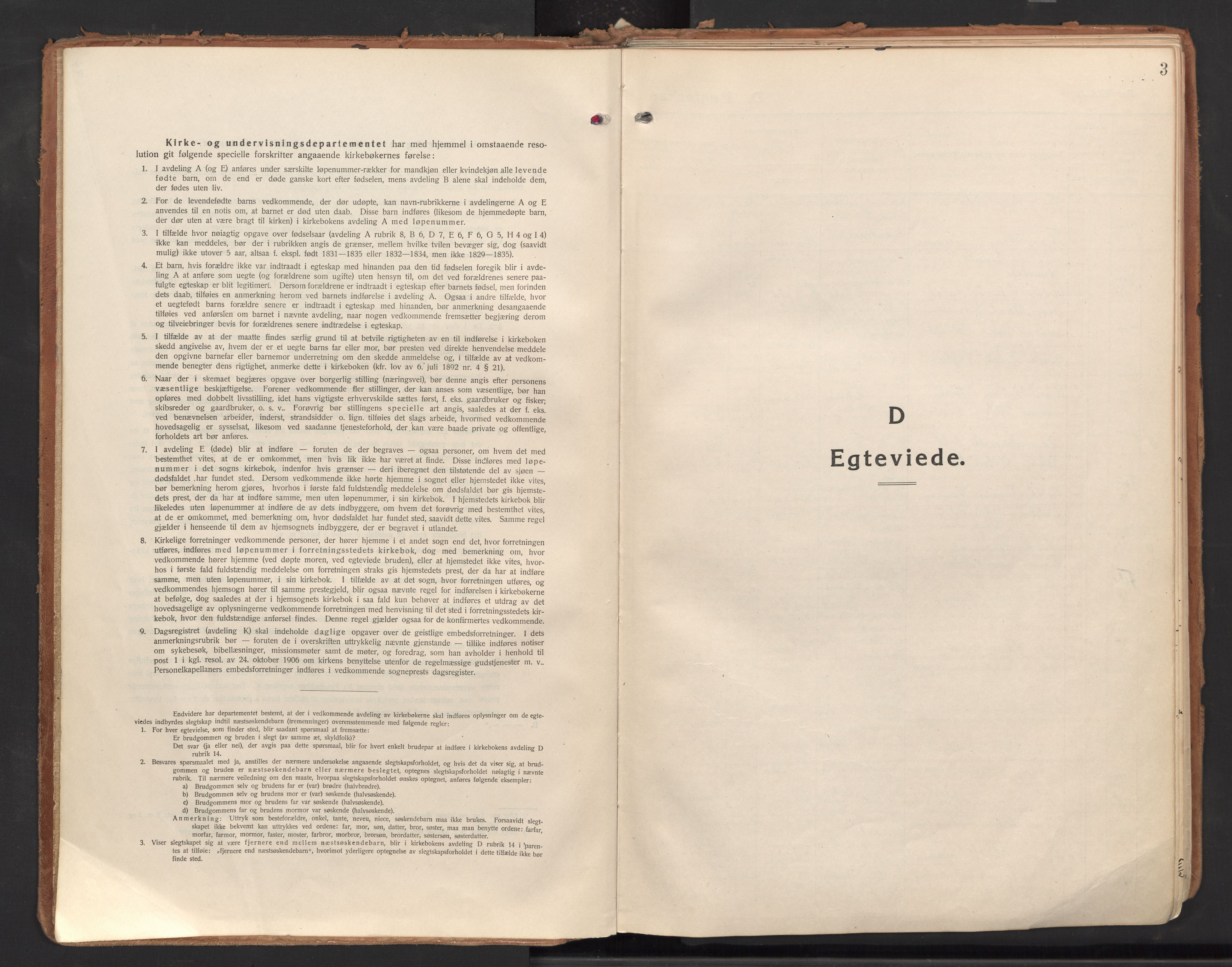 SAO, Halden prestekontor Kirkebøker, F/Fa/L0017: Ministerialbok nr. I 17, 1921-1945, s. 3