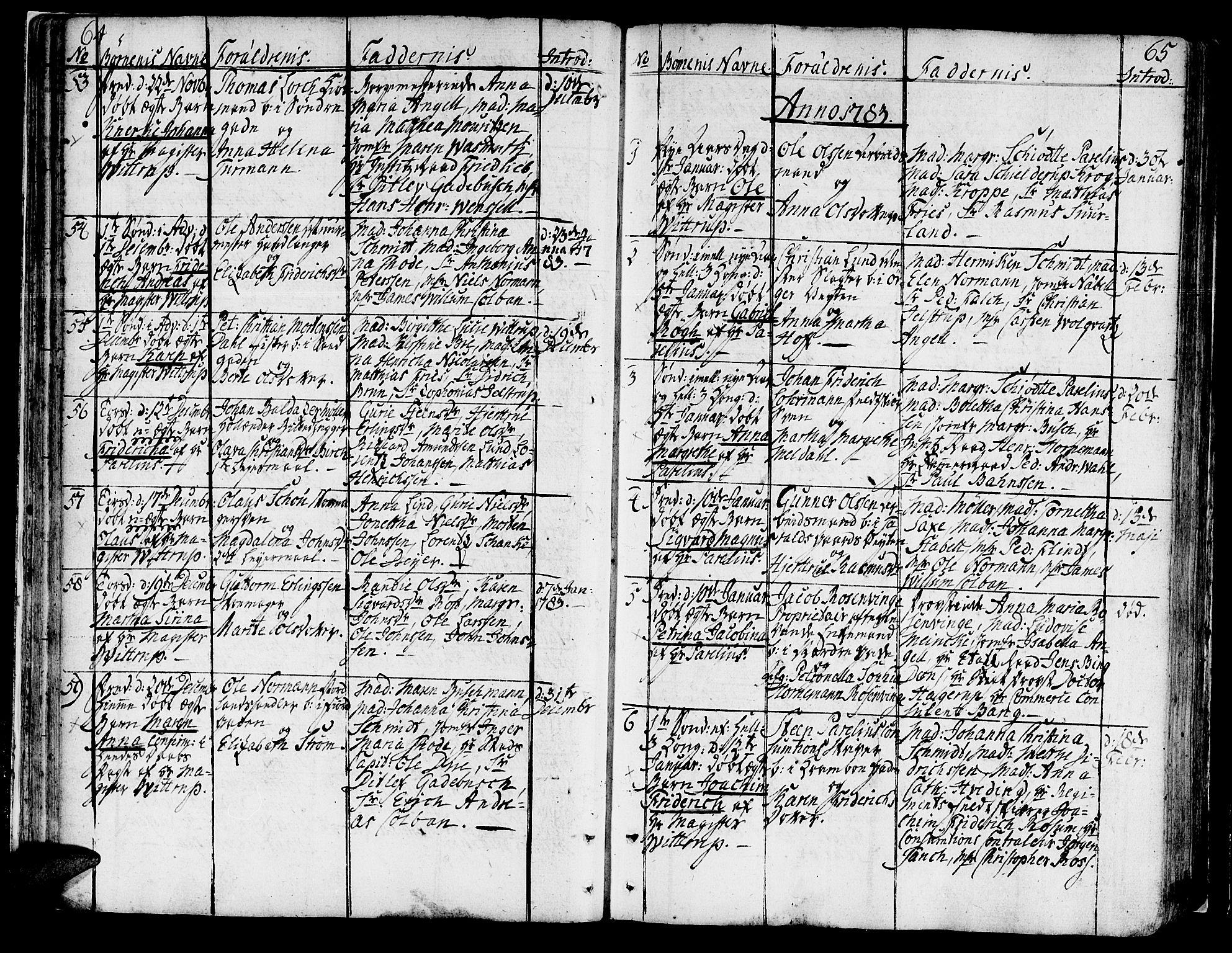 SAT, Ministerialprotokoller, klokkerbøker og fødselsregistre - Sør-Trøndelag, 602/L0104: Ministerialbok nr. 602A02, 1774-1814, s. 64-65
